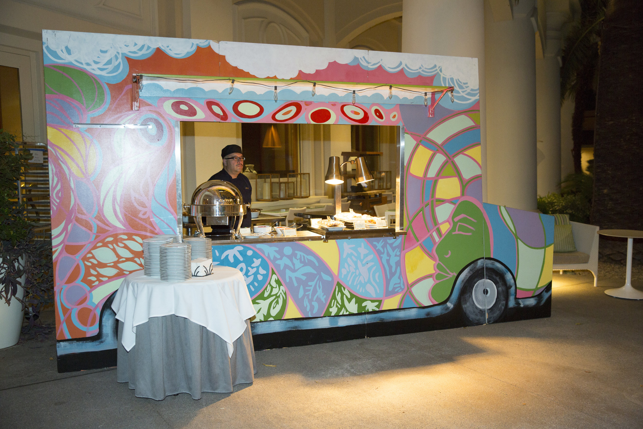 After party taco truck. Four Seasons Wedding by Las Vegas Wedding Planner Andrea Eppolito. Image by AltF Photography. Decor by DBD Vegas.