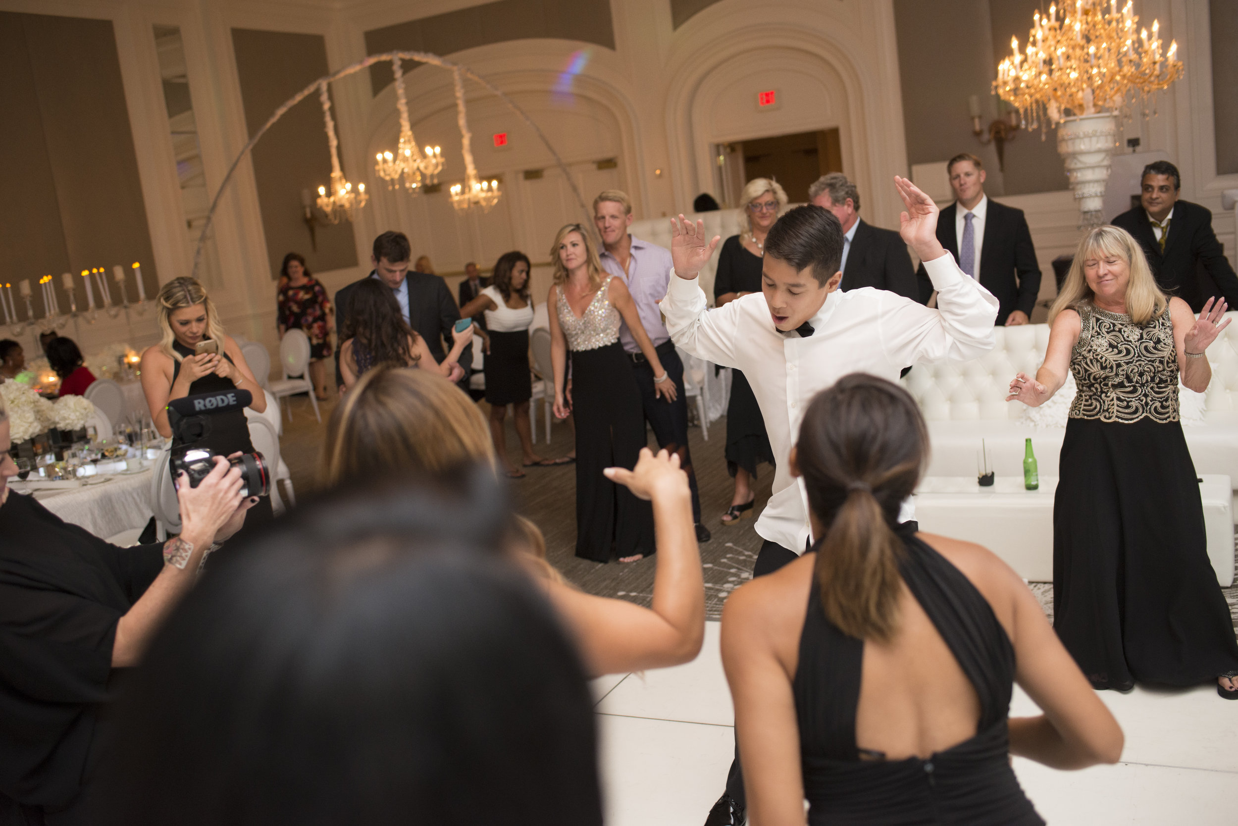 Dance party. Four Seasons Wedding by Las Vegas Wedding Planner Andrea Eppolito. Image by AltF Photography. Decor by DBD Vegas.