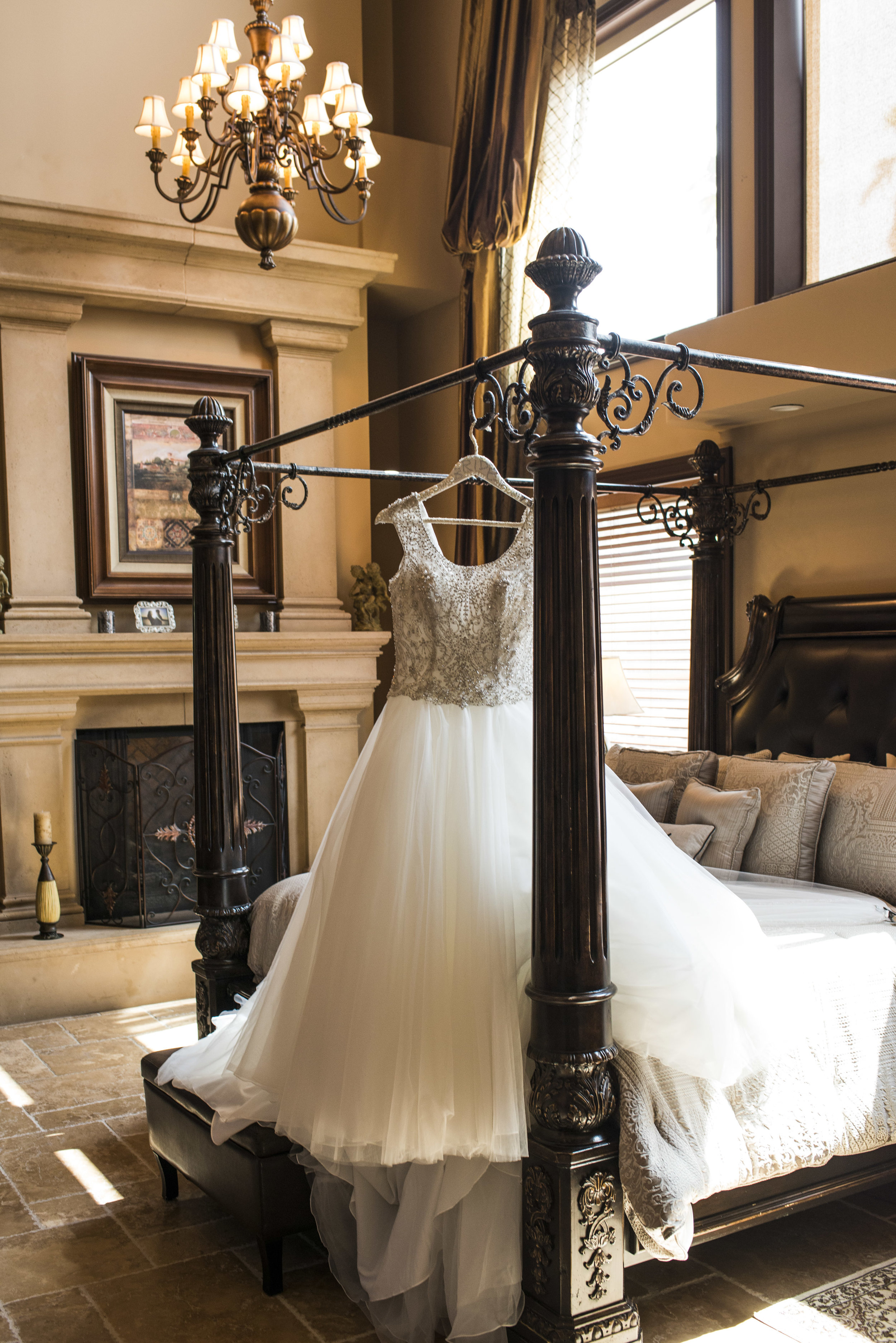 Bride's wedding dress by Sottero and Midgley. Luxury Las Vegas Wedding Planner Andrea Eppolito. Image by AltF Photography.