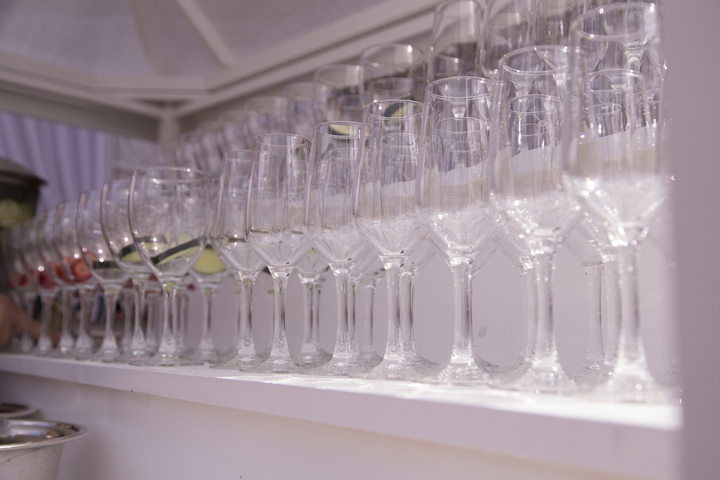 Welcome water station. Luxury Las Vegas Wedding Planner Andrea Eppolito. Image by AltF Photography.