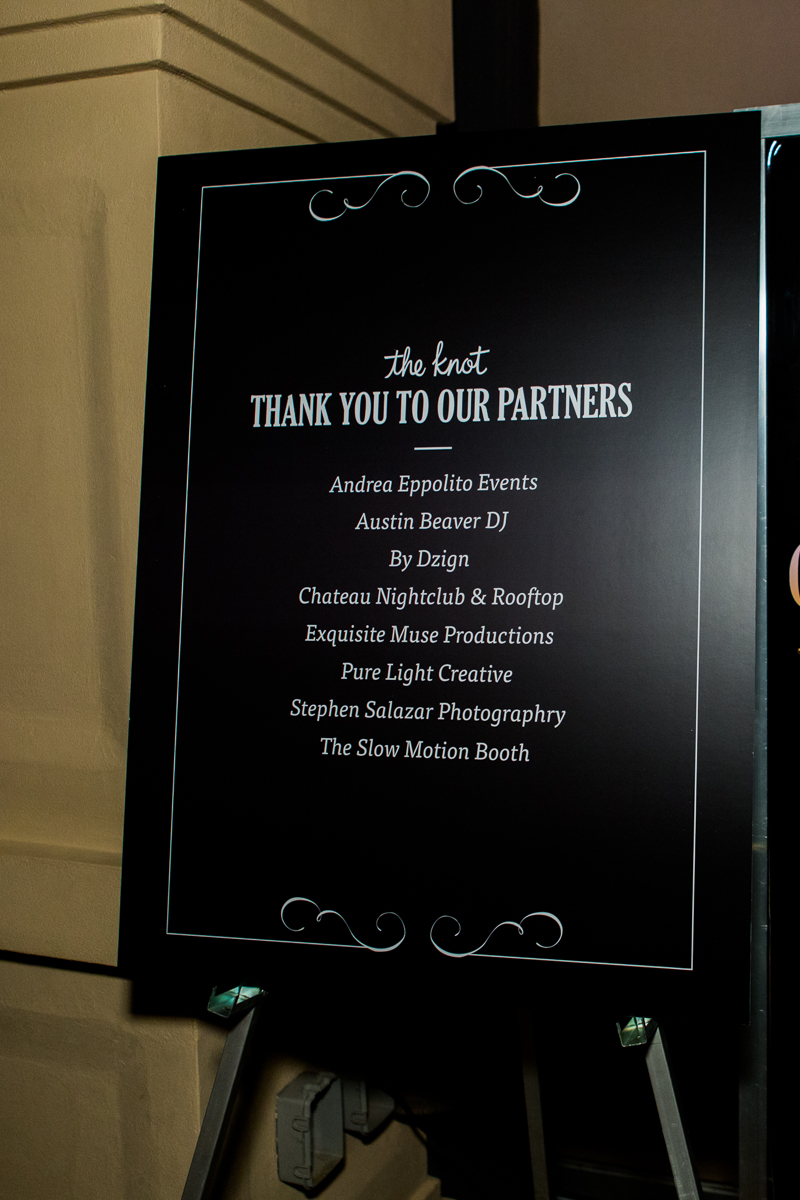 he Credits of The Knot Pro Wedding MBA Event 2016.