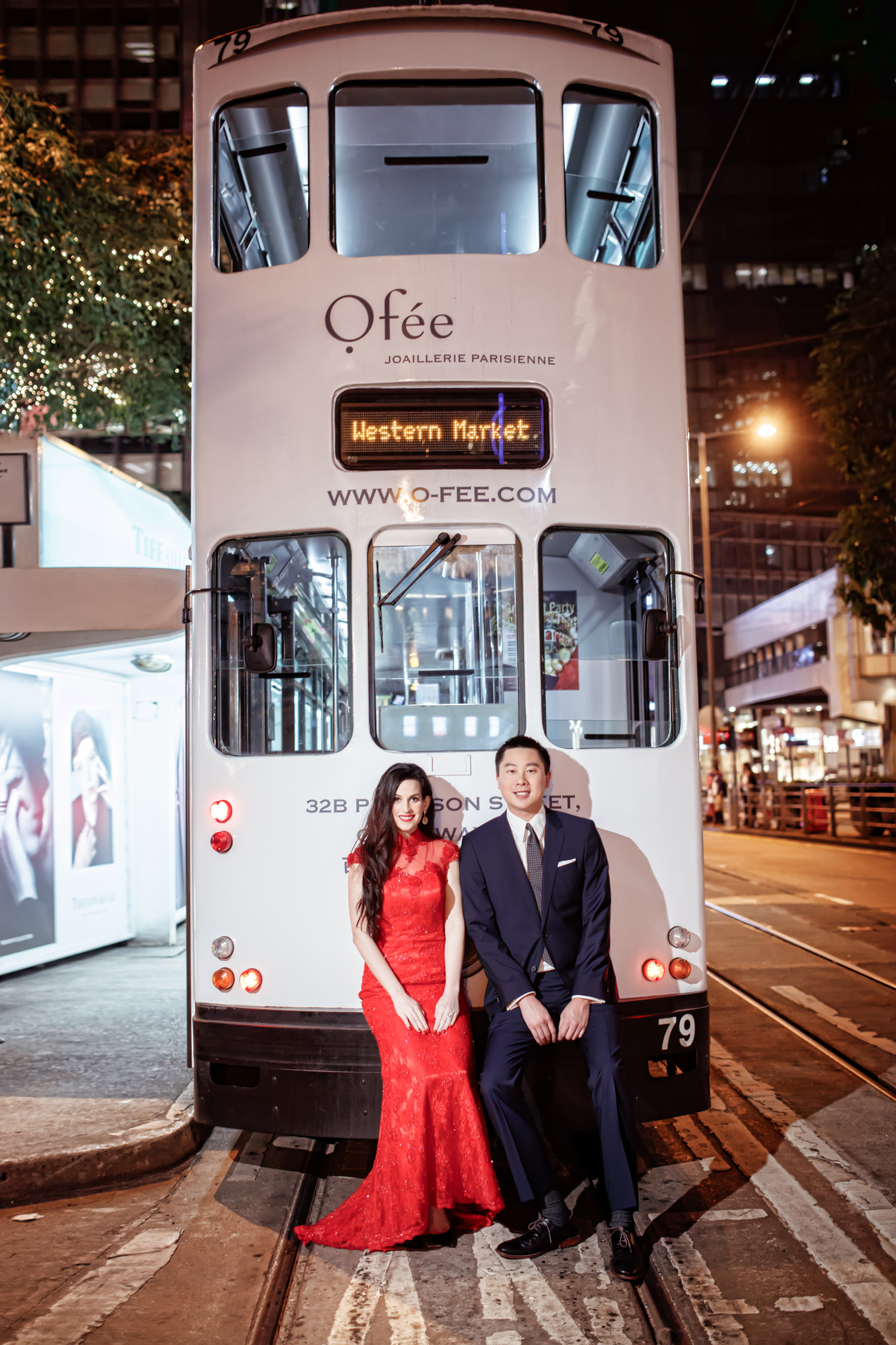 Las Vegas Wedding Planner Andrea Eppolito shares these Hong Kong Engagement Photos taken by  Aperture Photo . Red lace gown on bride to be.