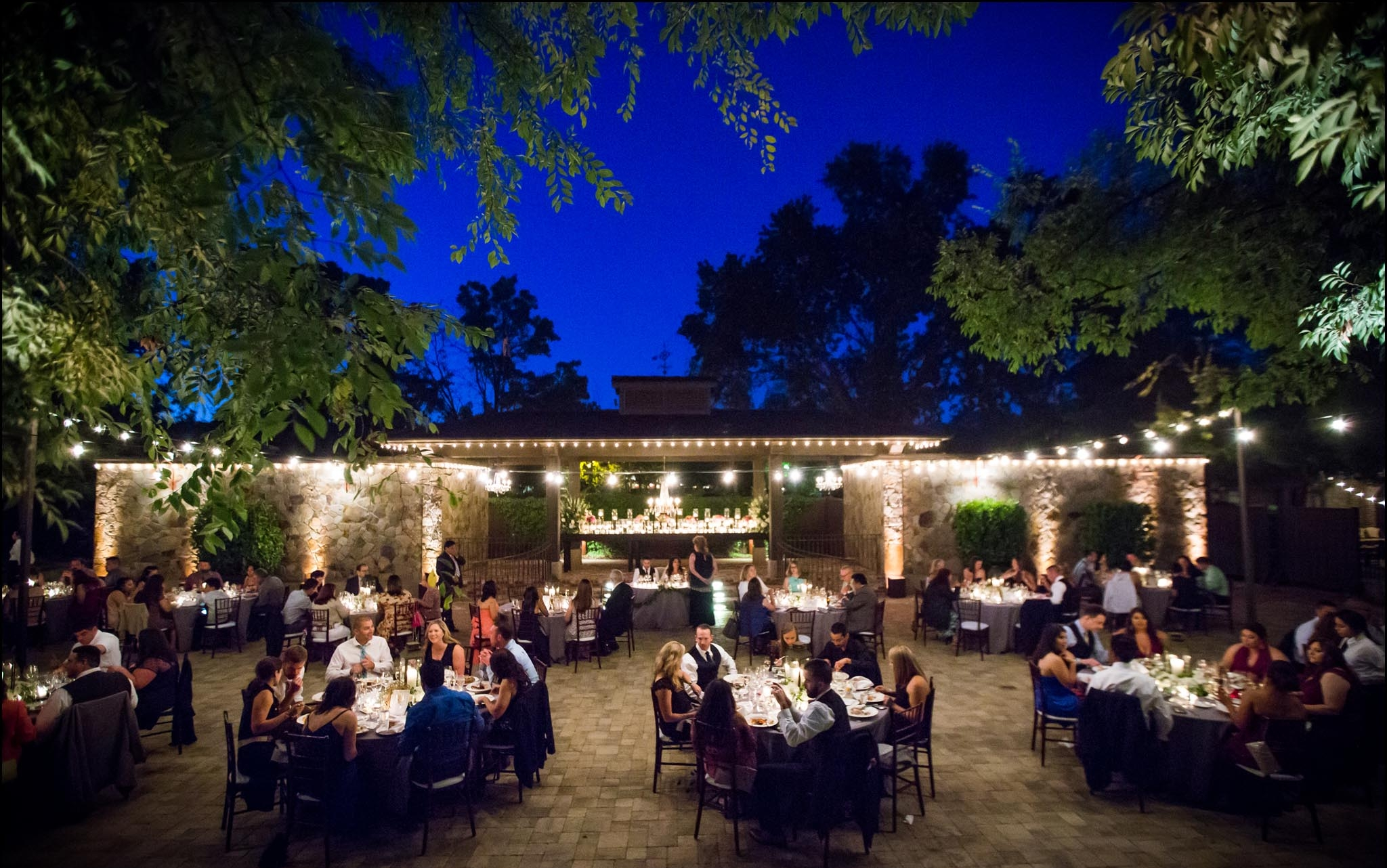 Wedding receptions in the Pavilion at The Estate Yountville. Photo by Christophe Genty Photography.