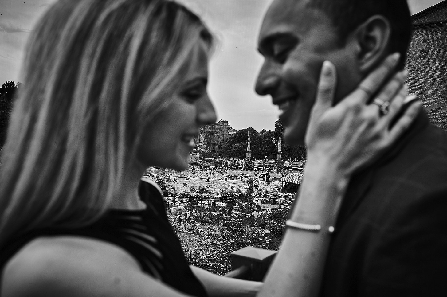 Black and white engagement photos in Italy.  Destination wedding planner Andrea Eppolito. Engagement photos in Italy.  Italian Imagery by  D2 Photography .