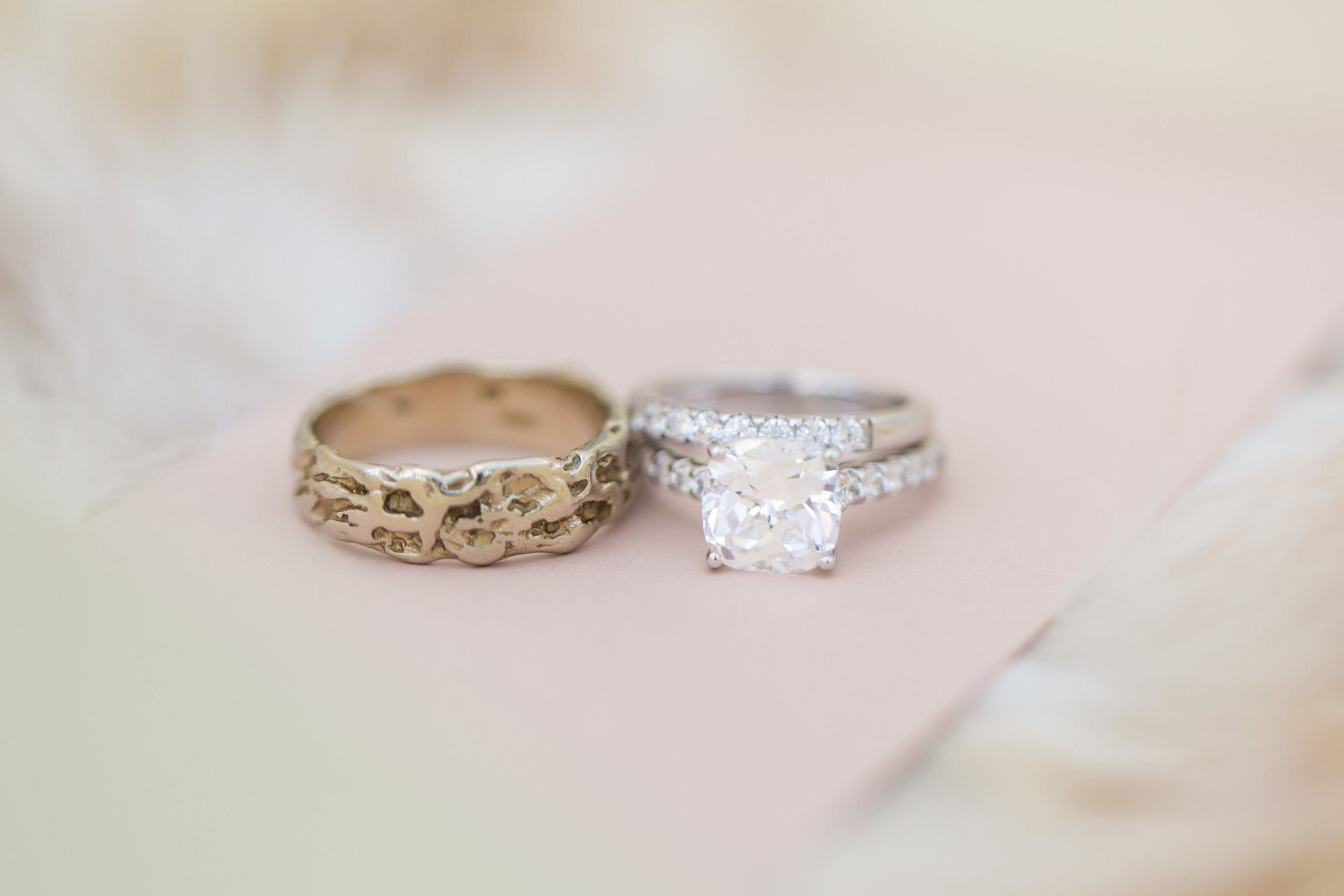 Rings. Wedding Planning by  Andrea Eppolito Events  · Photography by  Shandro Photo   · Wedding Venue  Four Seasons Las Vegas  · Floral and Decor by  Destination by Design  · Chandeliers and Lighting by  LED Unplugged