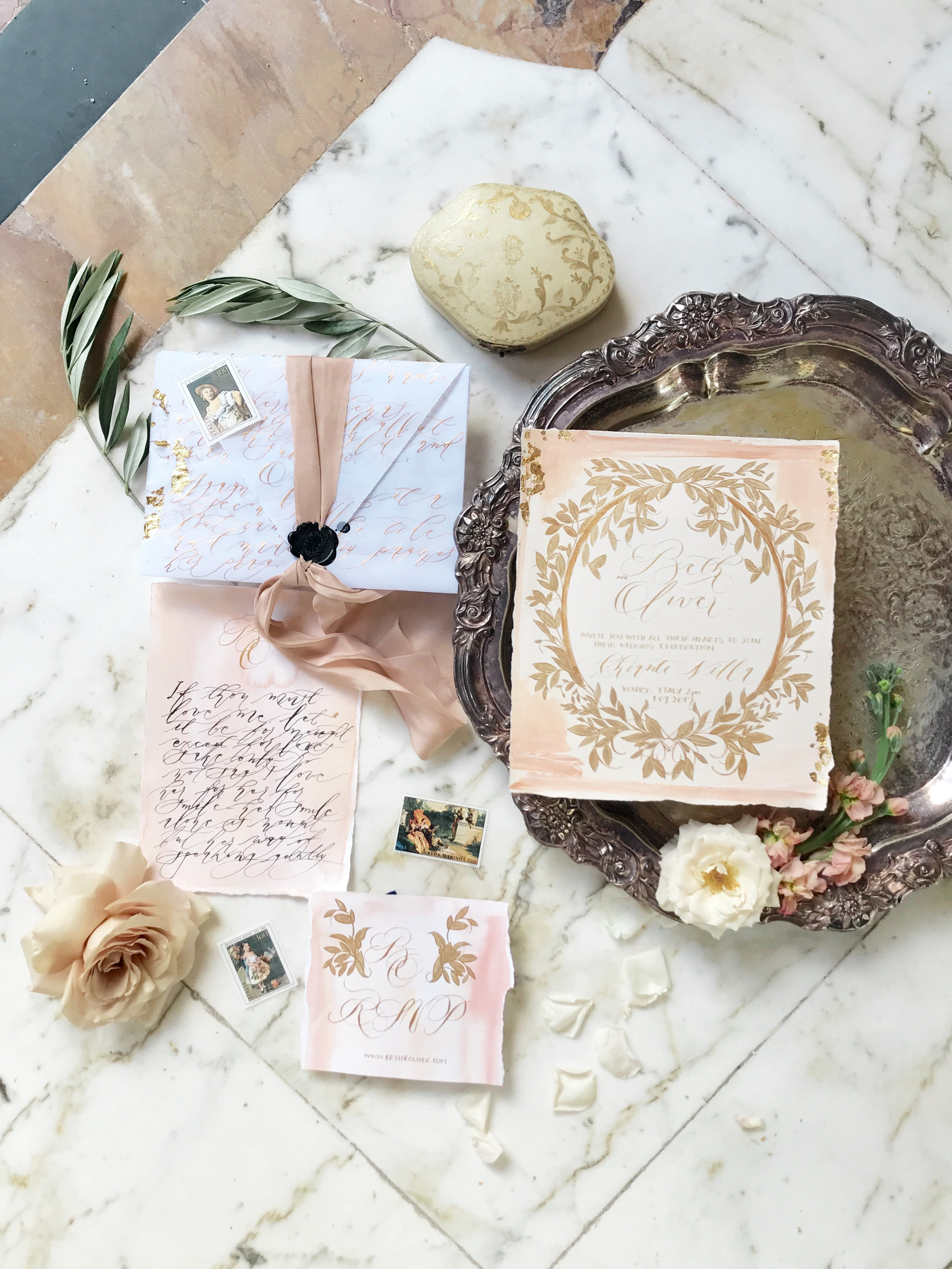 Wedding Stationery by Crimson Letters. Wedding Planner www.andreaeppolitoevents.com. Photo by Vizcay Koby Brown.