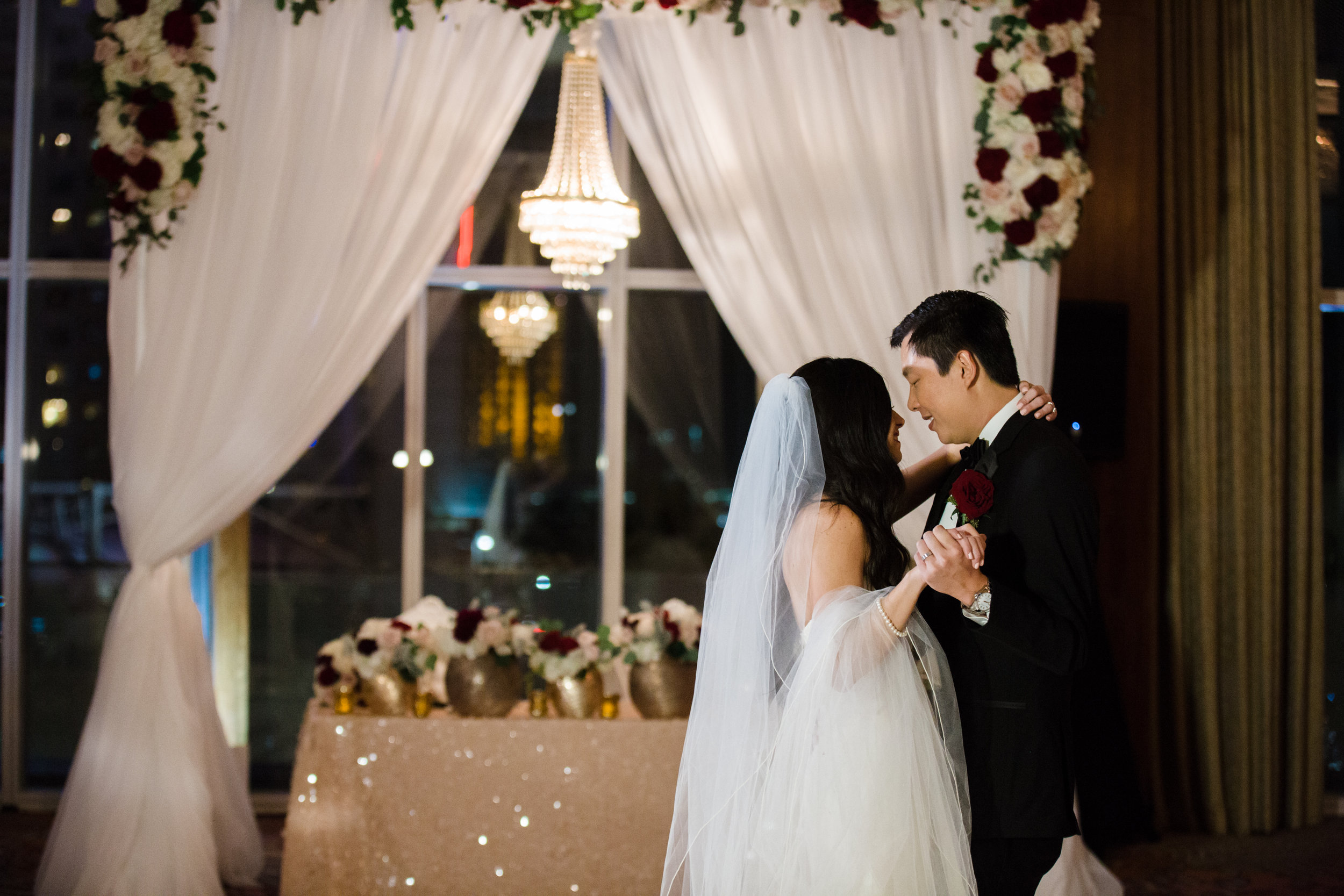 Las Vegas Wedding Planner Andrea Eppolito presents the upscale wedding of Dr. Crane and Dr. Mo inspired by WedLuxe Magazine.