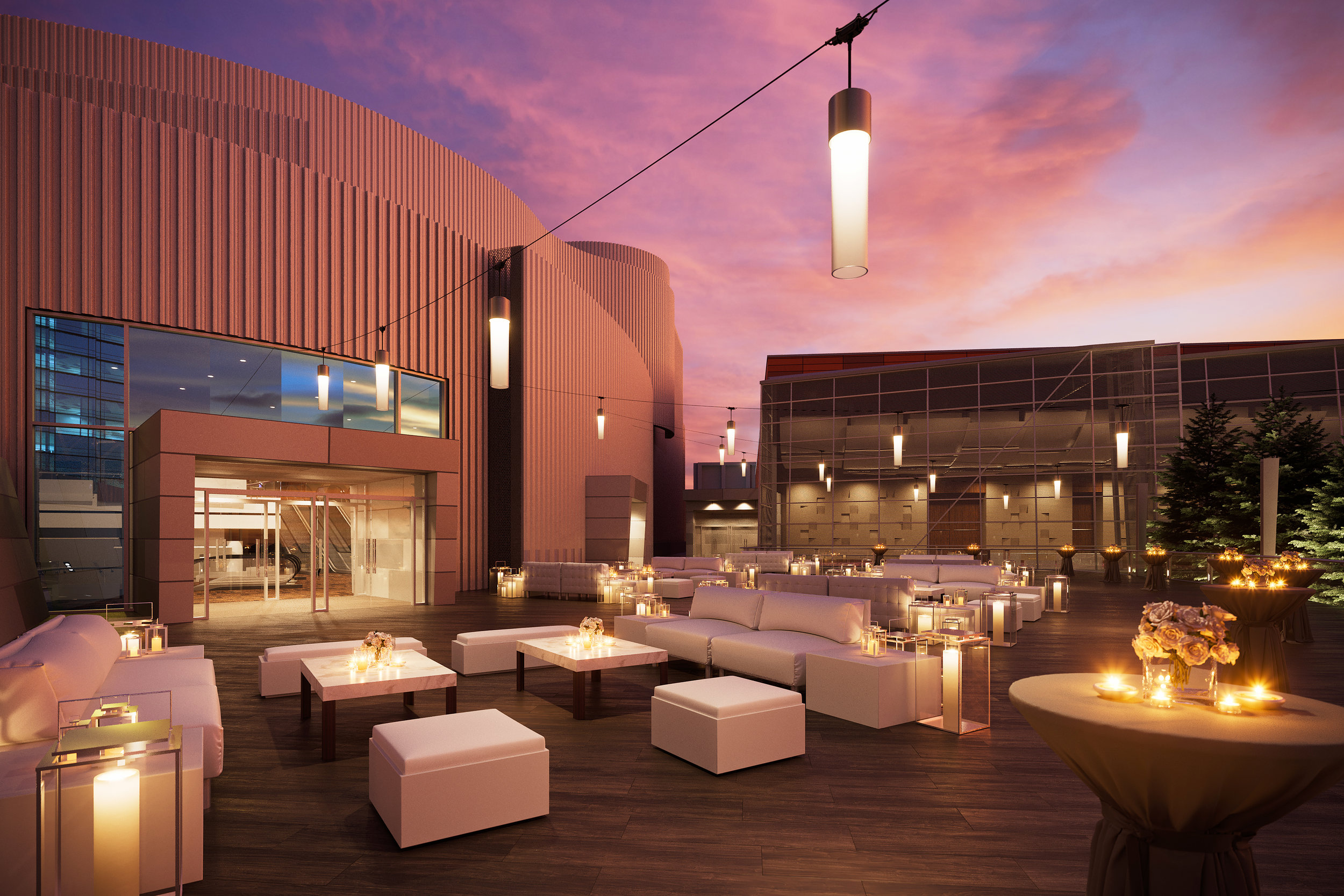 The Ironwood Terrace at ARIA is the perfect place for a luxury wedding. Las Vegas Wedding Planner Andrea Eppolito is a prefered vendor at ARIA and looks forward to showcasing this space. Rendering provided by ARIA Las Vegas.