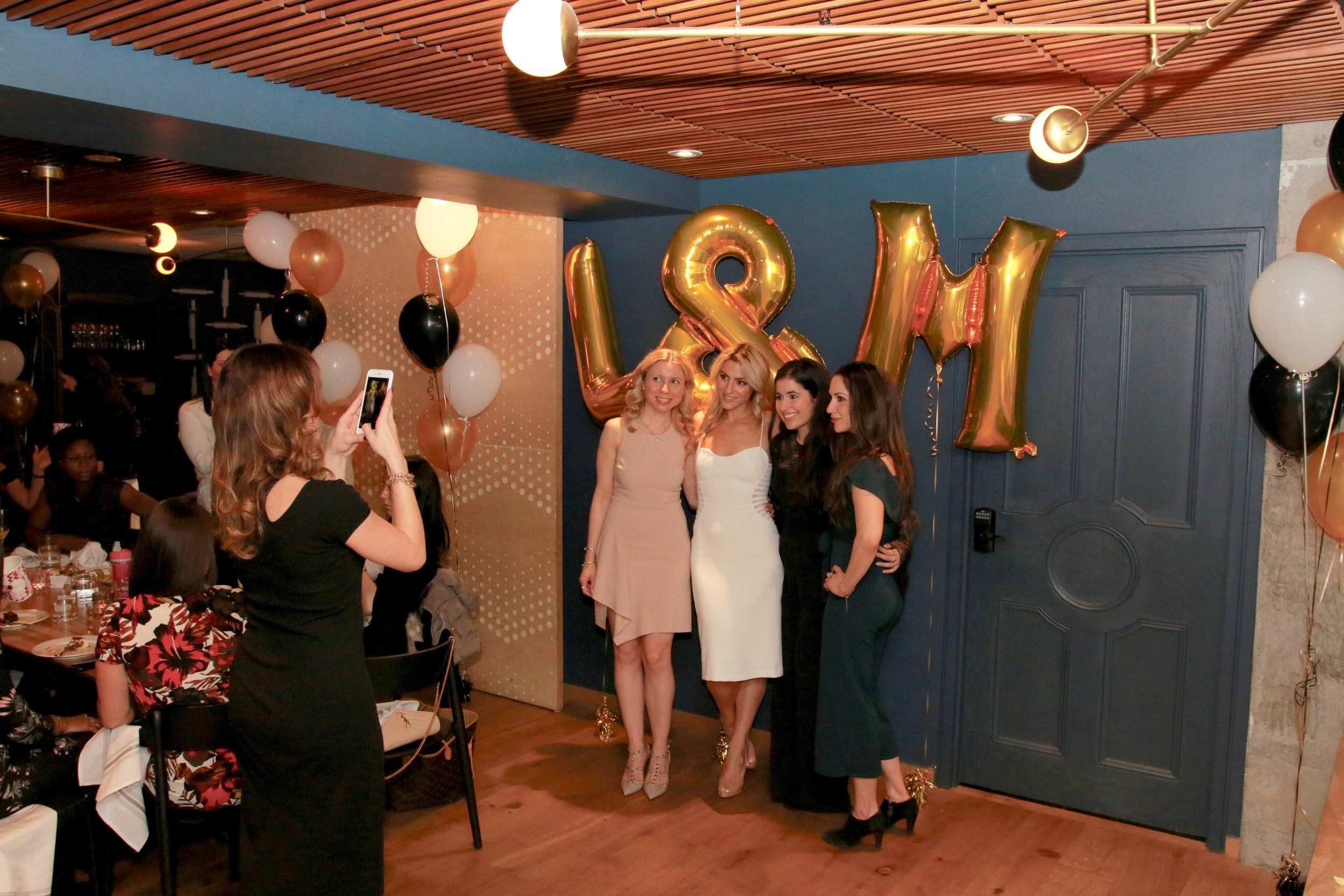 Balloons are a thing! Bride poses with her bridesmaids.Destination Wedding Planner Andrea Eppolito is based in Las Vegas.