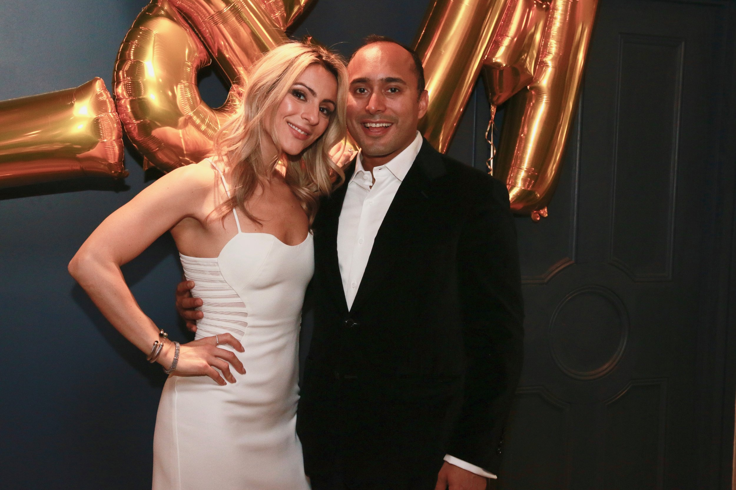 The bride and groom celebrate their wedding at a shower in their honor.Destination Wedding Planner Andrea Eppolito is based in Las Vegas.