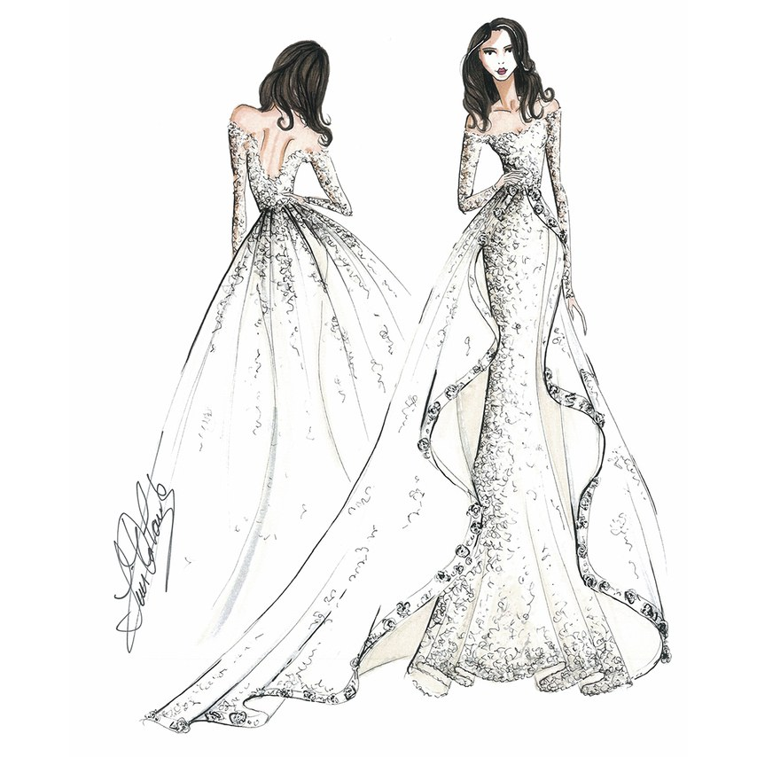 Ines di Santo for Meghan Markle. As seen on Brides.com.