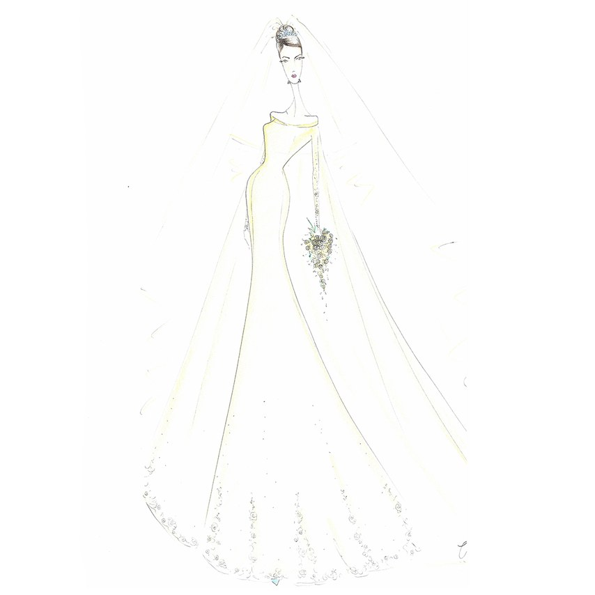 Lazaro for Meghan Markle. As seen on Brides.com.