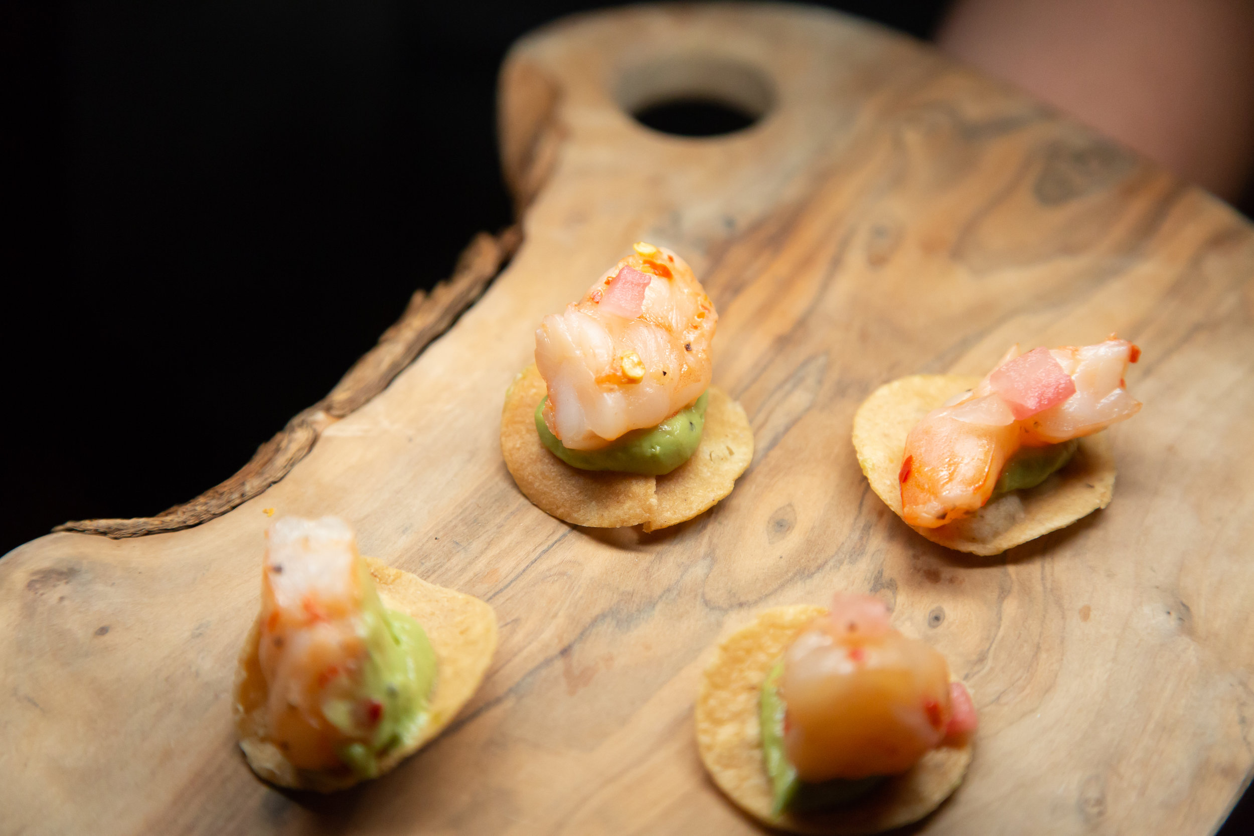 Ceviche at Havana Nights Party.Las Vegas Event Designer Andrea Eppolito designed a Havana Nights Birthday Party for pop star Wajdi Kasas. Decor from By Dzign with lighting from LED Unplugged. Adam Frazier took the photos, and catering came from Cut & Taste.