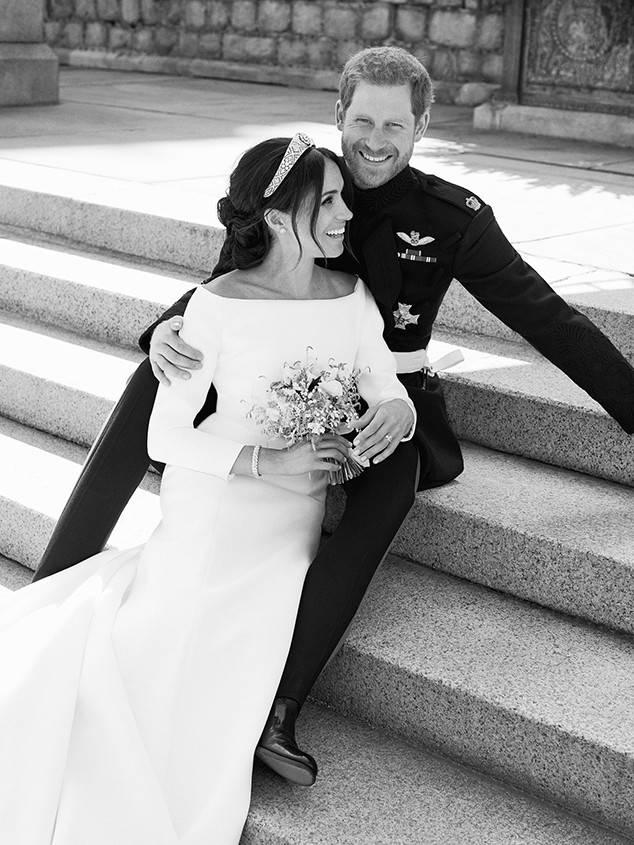 Prince Harry and Meghan Markle Official Wedding Portrait.  Alexi Lubomirski/Kensington Palace