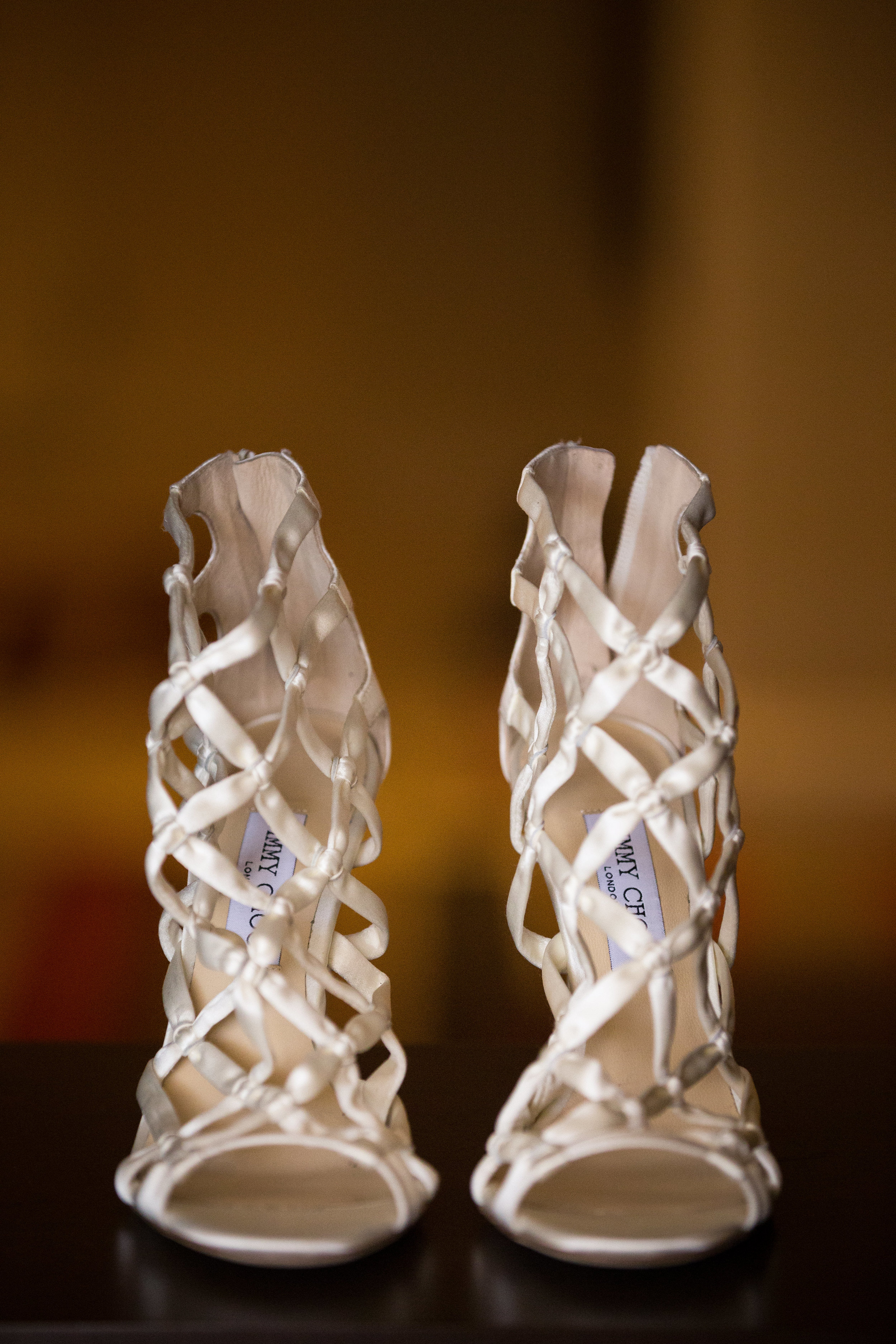 Jimmy Choo satin cage sandels.Wedding Planner:  Andrea Eppolito Events   | Photography  D2 Tuscan Wedding Photography  | Videography  M Place Productions  | Venue & Catering:  Bellagio  | Floral & Decor:  Destinations by Design  | Lighting:  LED Unplugged   | Music: Classical Entertainment &  DJ Mike Fox  | Hair & Make Up:  Amelia C & Co