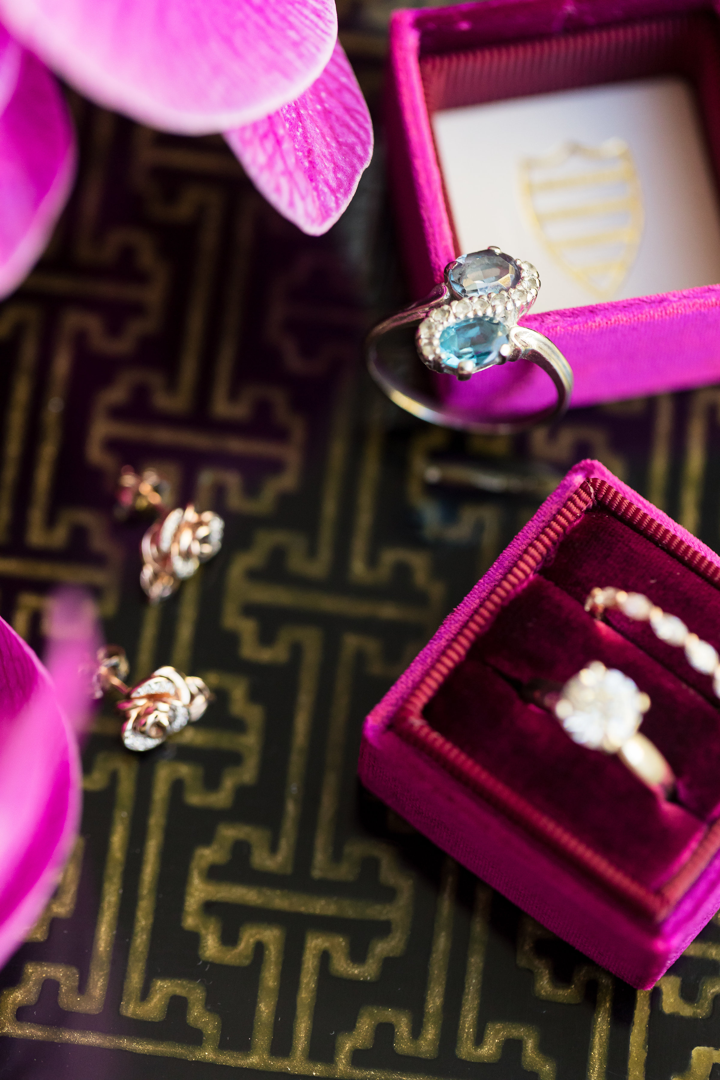 Family heirlooms and bridal jewelry.Wedding Planner: Andrea Eppolito Events    Photography  Brian Leahy