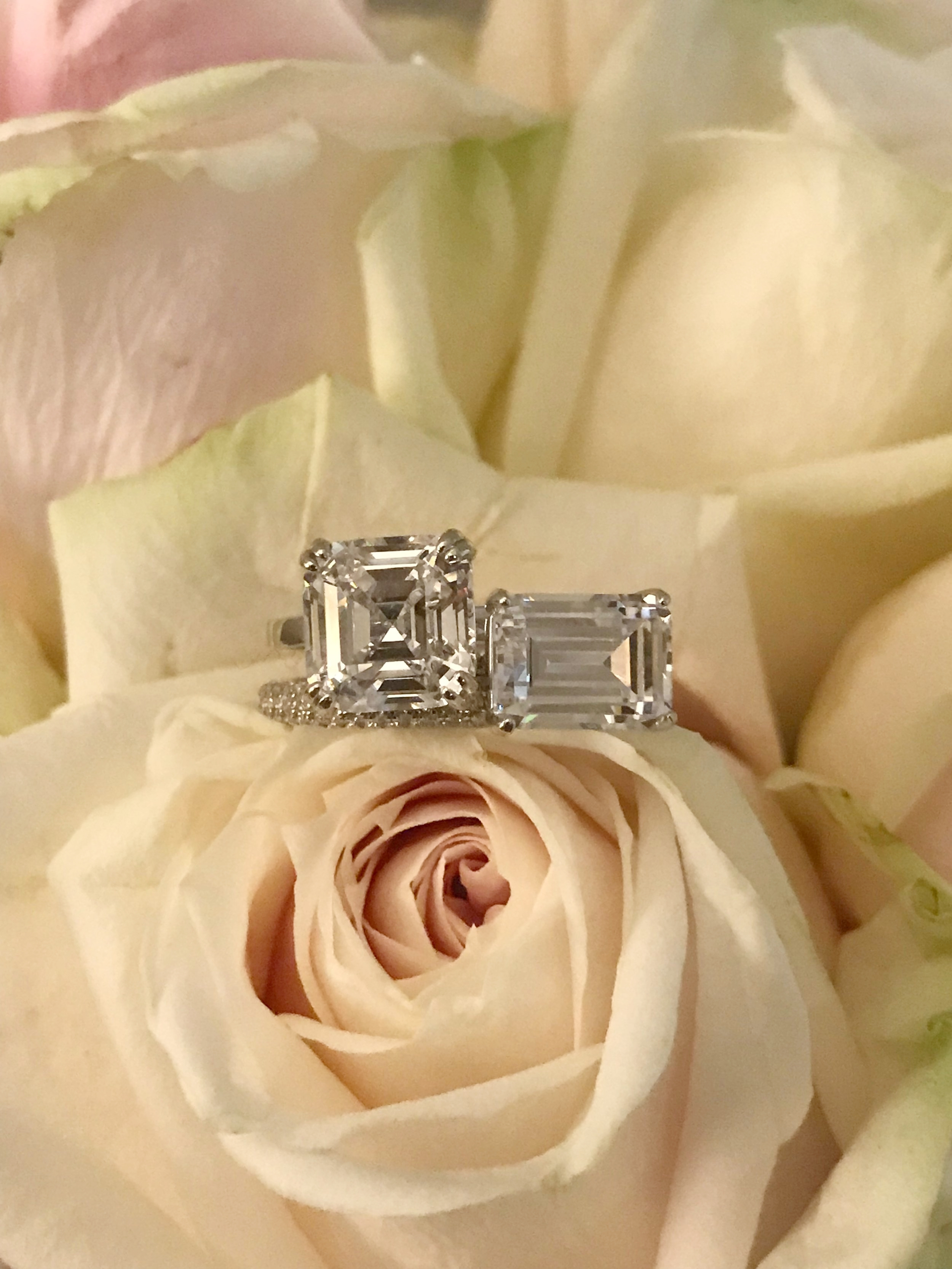 Big diamond engagement rings.  Eco friendly and conflict free by Everly Diamonds.