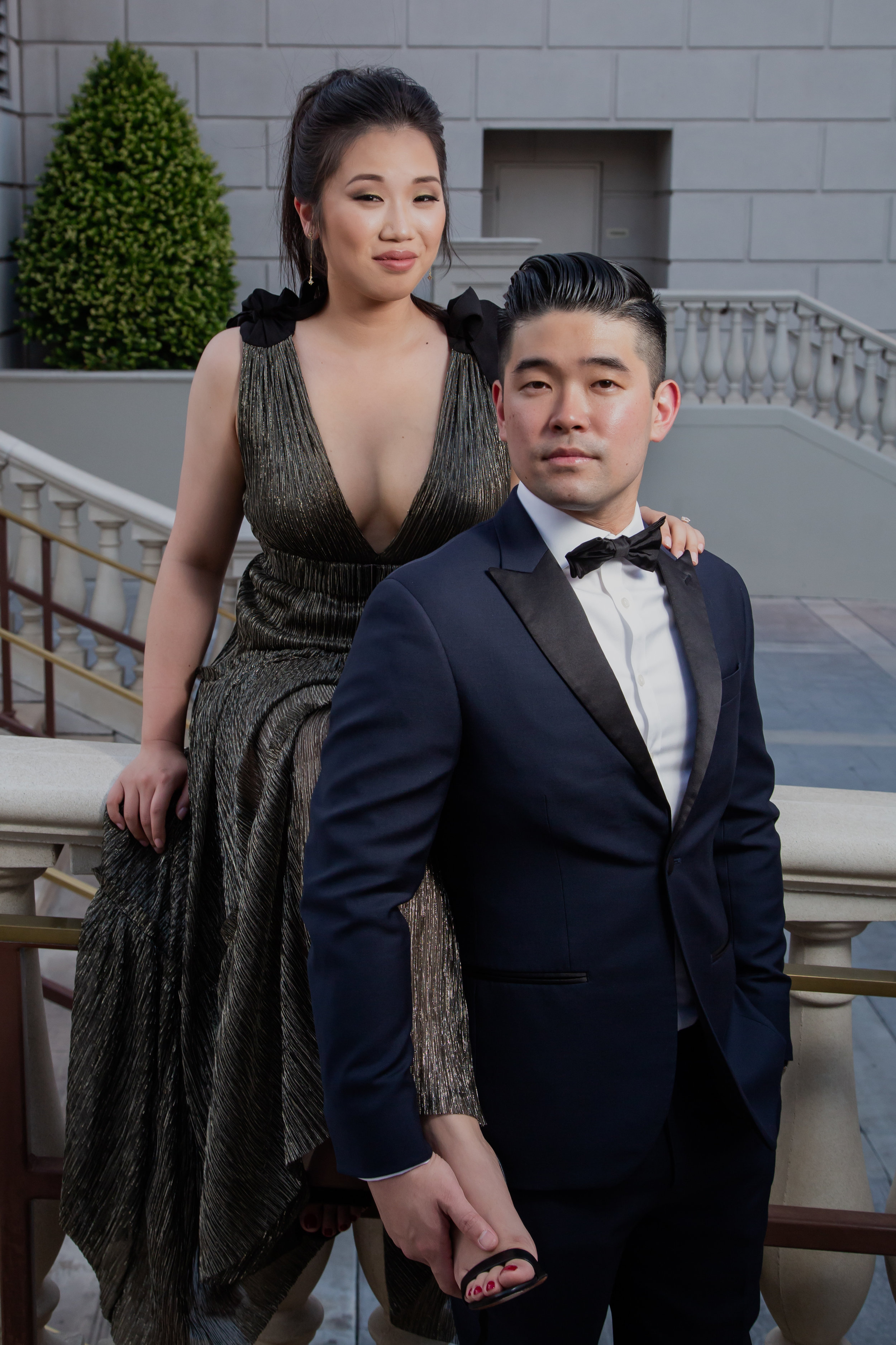 Grace Ormonde Style Engagement Photos at the iconic Caesars Palace.  Las Vegas Engagement Photos. Visit Wedding Planner www.andreaeppolitoevents.com to learn more! Photo by Adam Frazier.