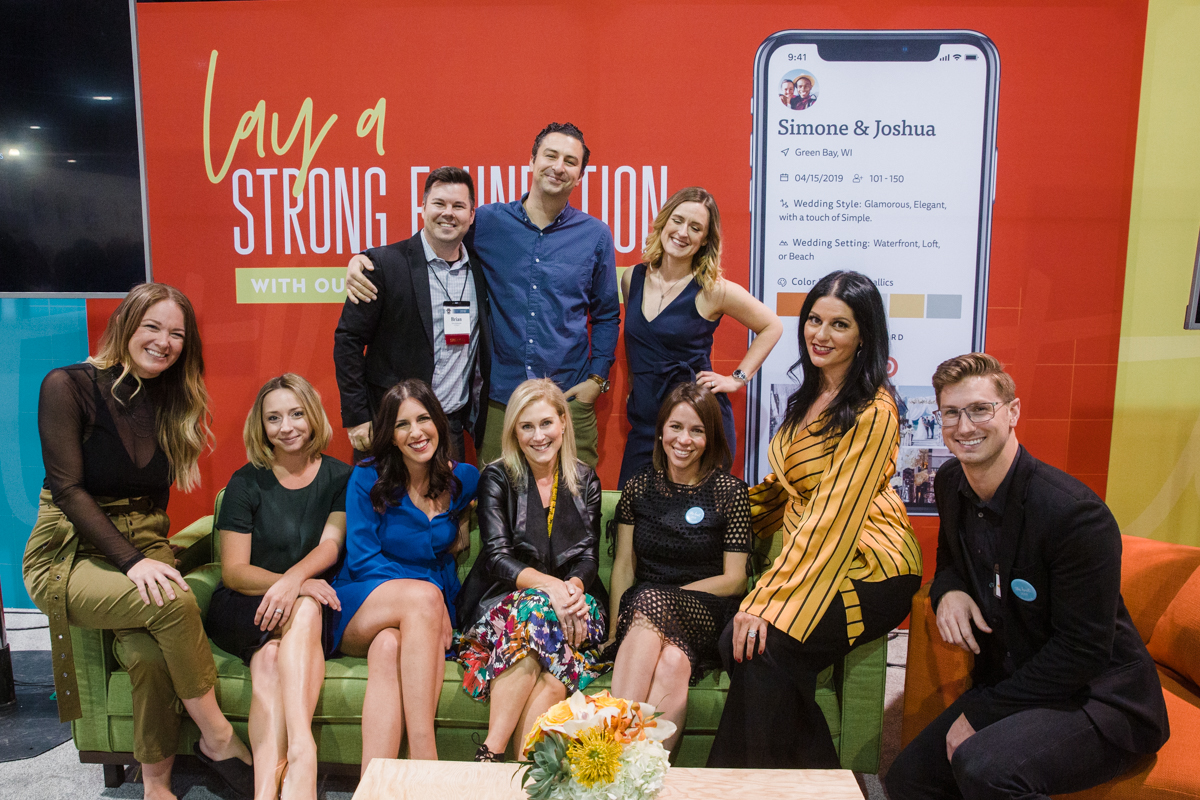 The Knot Live Panel at Wedding MBA with the best wedding creatives in the industry. Las Vegas Wedding Planner Andrea Eppolito. Image by Stephen Salazar Photography.