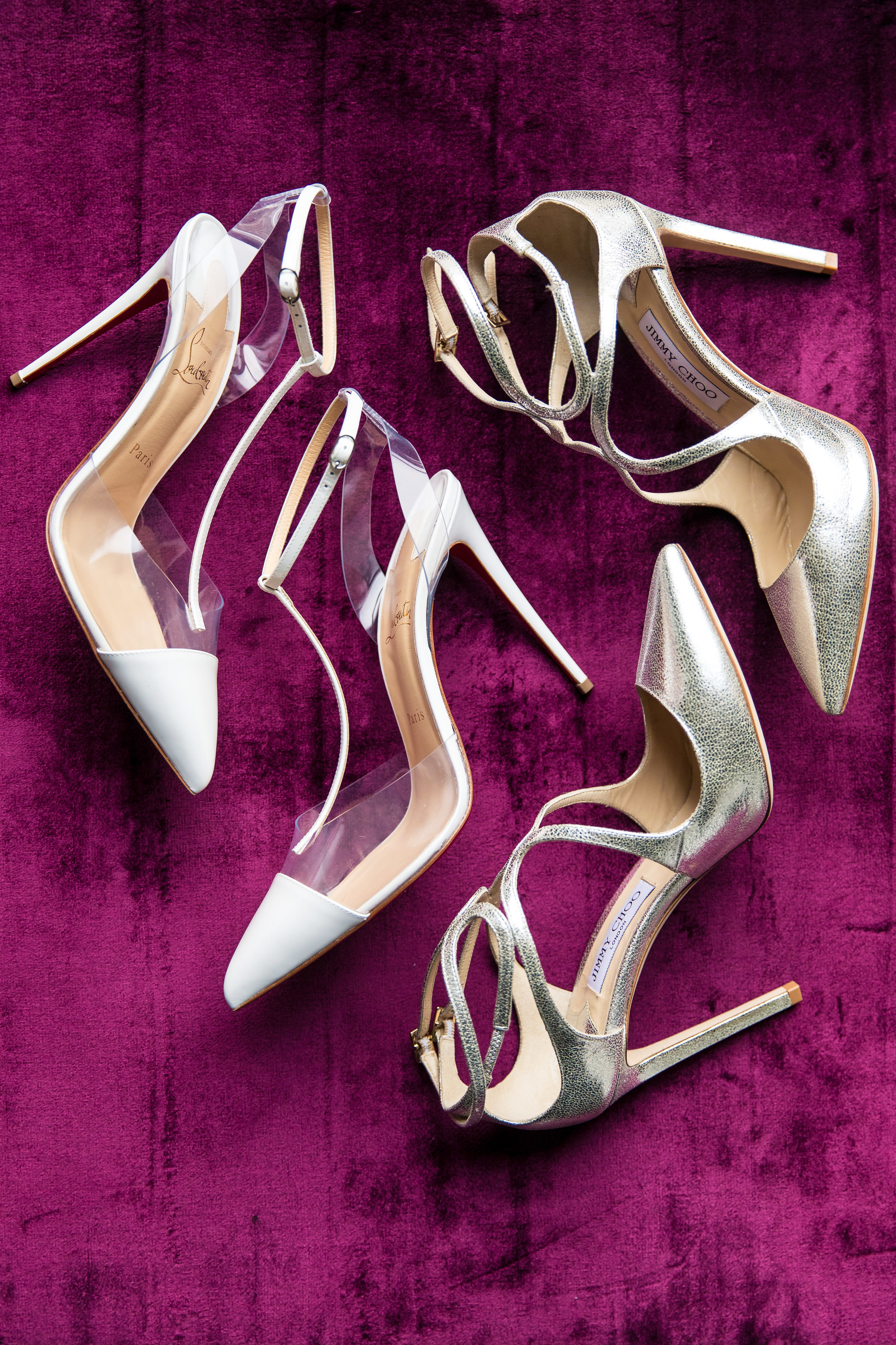 Louboutins and Jimmy Choo.  Designed and Produced by Las Vegas Wedding Planner Andrea Eppolito. Images by Brian Leahy.