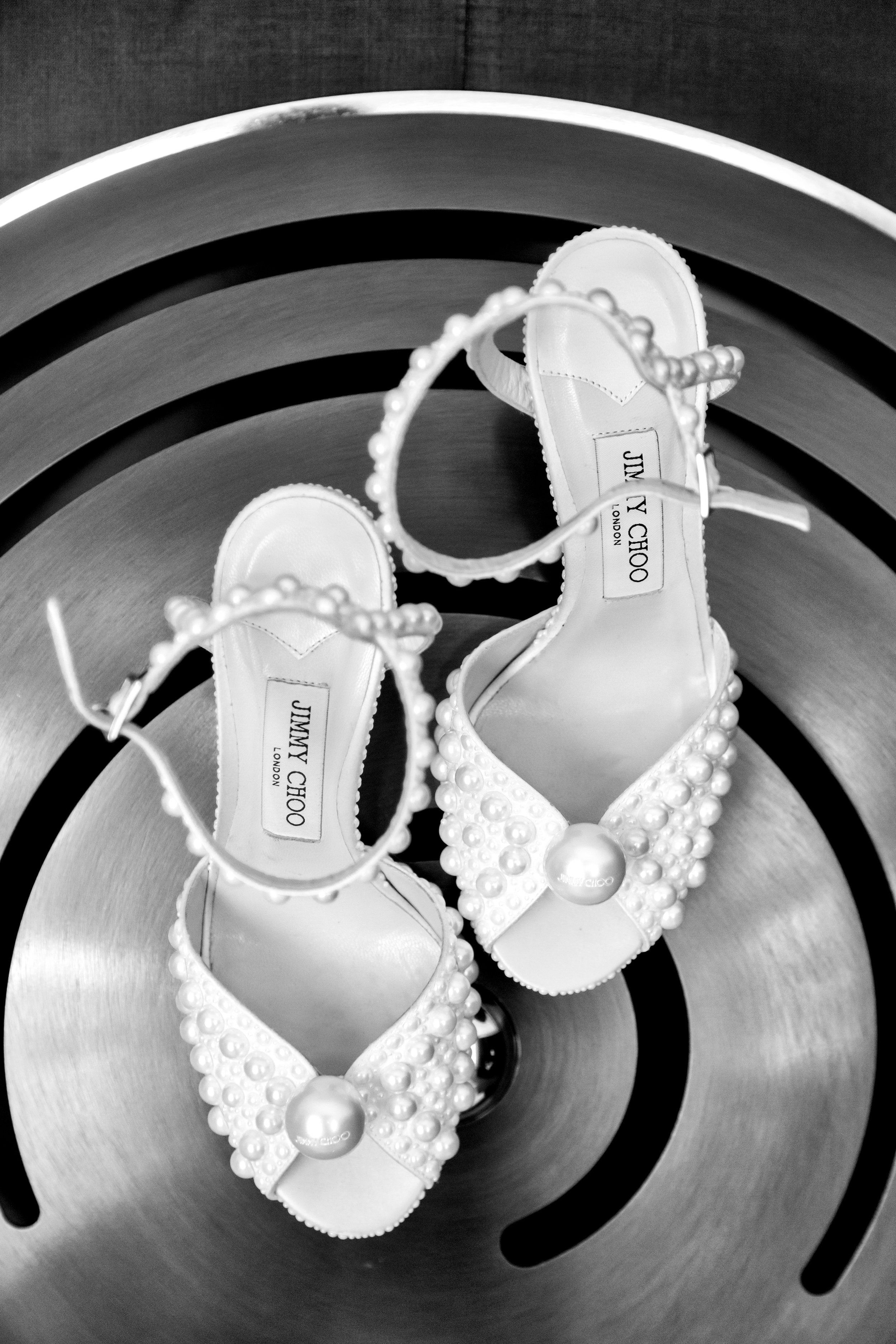 Jimmy Choo Bridal Shoes. Wedding Planning and Event Design by Andrea Eppolito www.andreaeppolitoevents.com. Photos by Adam Frazier.