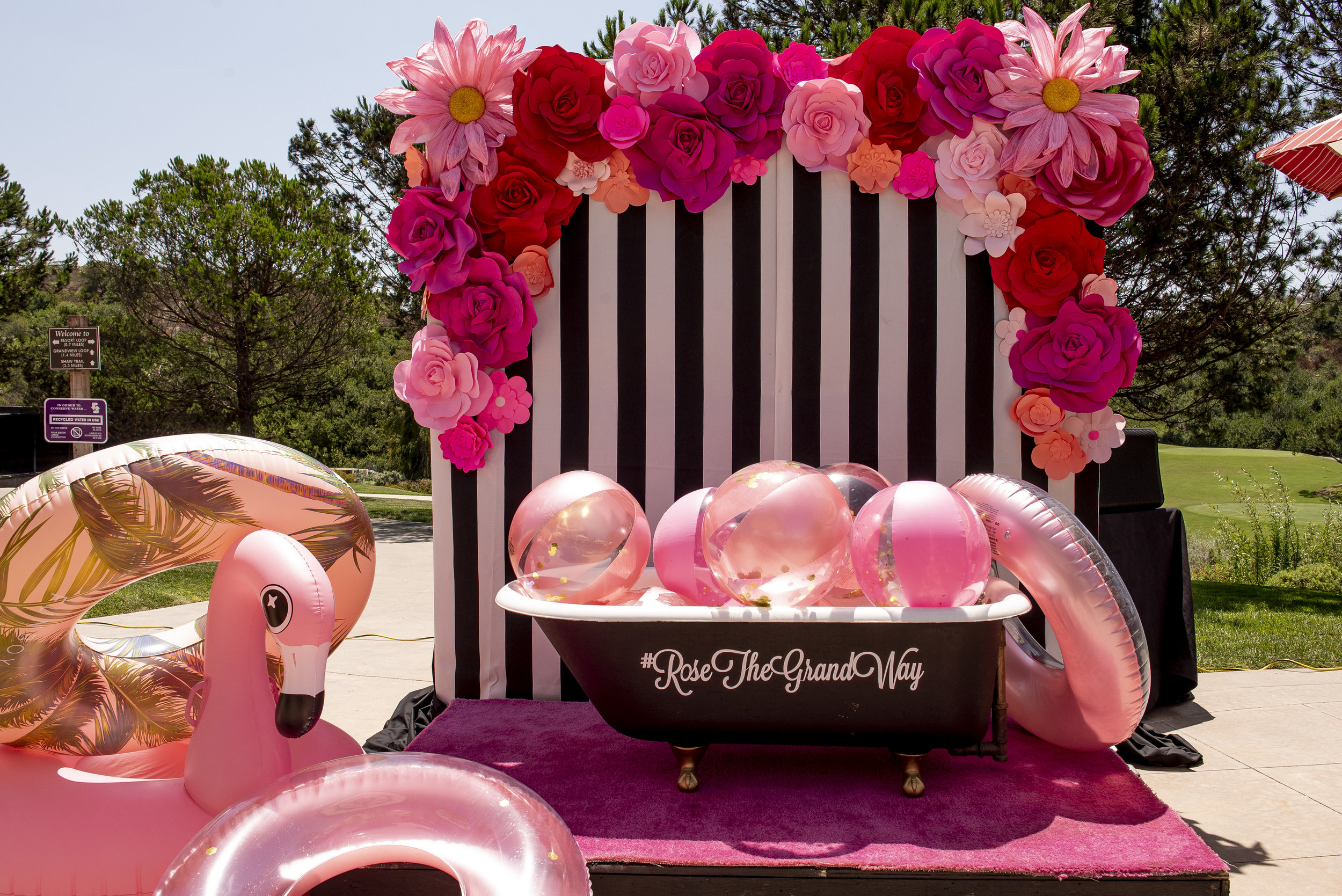 Rose The Grand Way Pool Party. Wedding Planner www.andreaeppolitoevents.com. Photo by Boyd Harris.