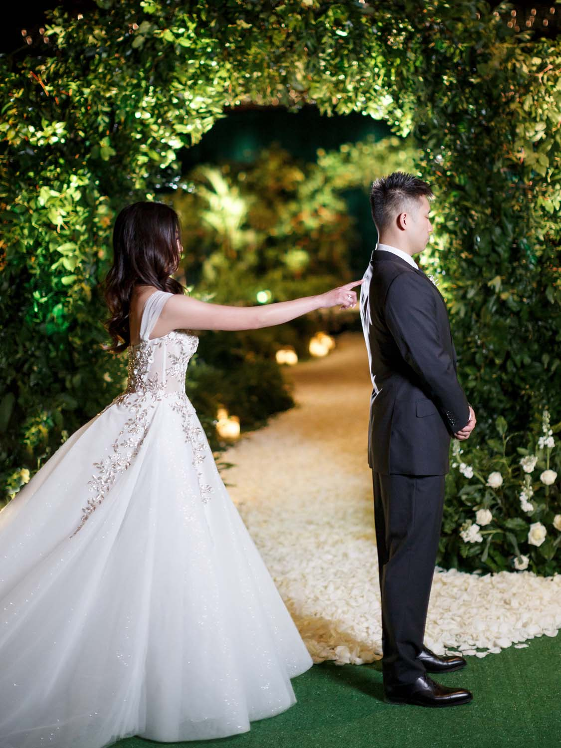 First look at the ceremony site. Luxury Las Vegas Wedding Planner Andrea Eppolito. www.andreaeppolitoevents.com. Photo by Rene Zadori.