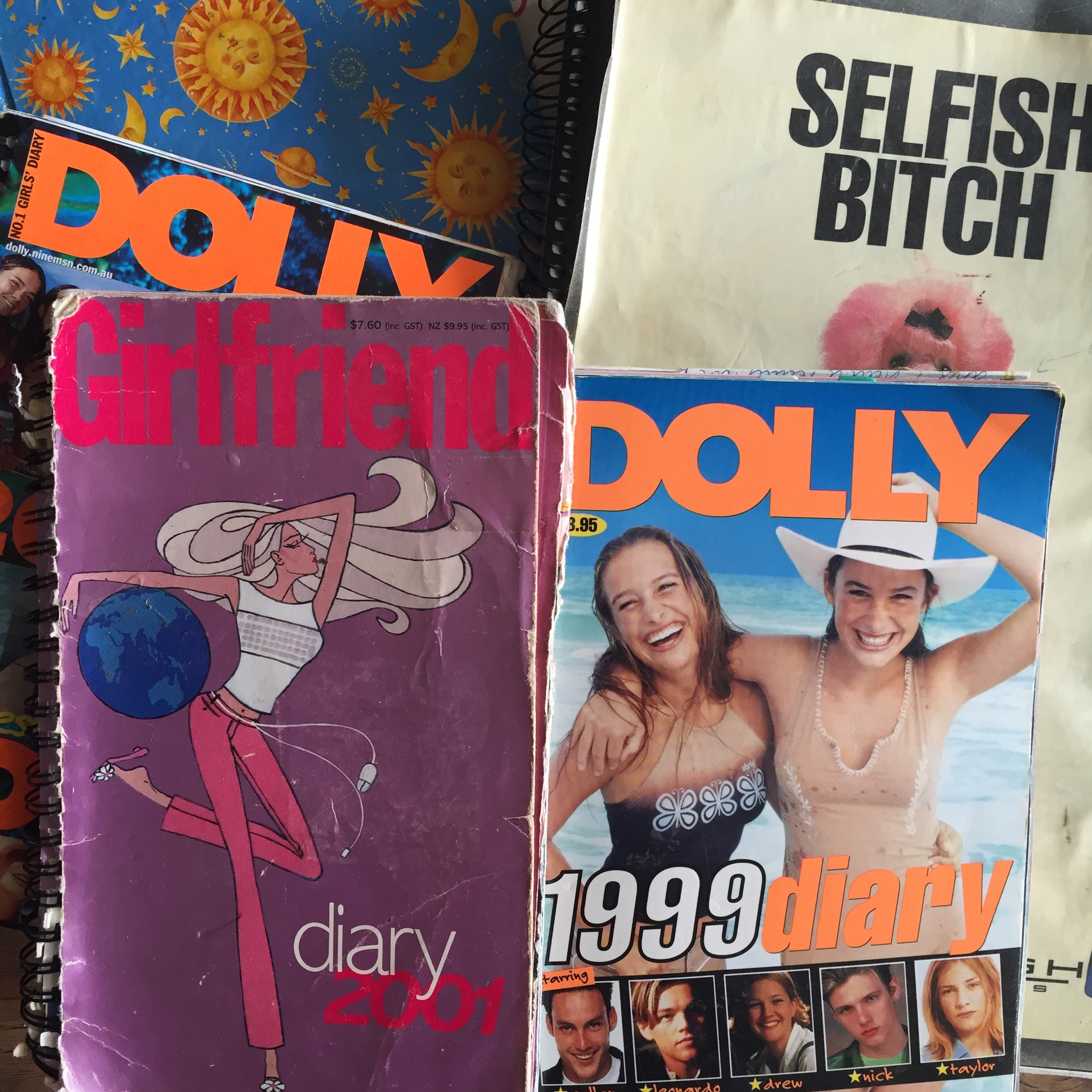 A collection of some of my very old diaries...