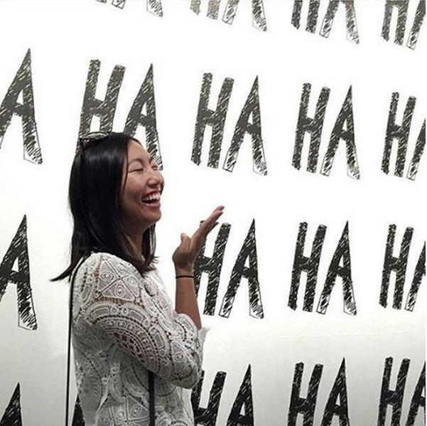 """Resist the urge to laugh"" On @mcaaustralia instagram post"