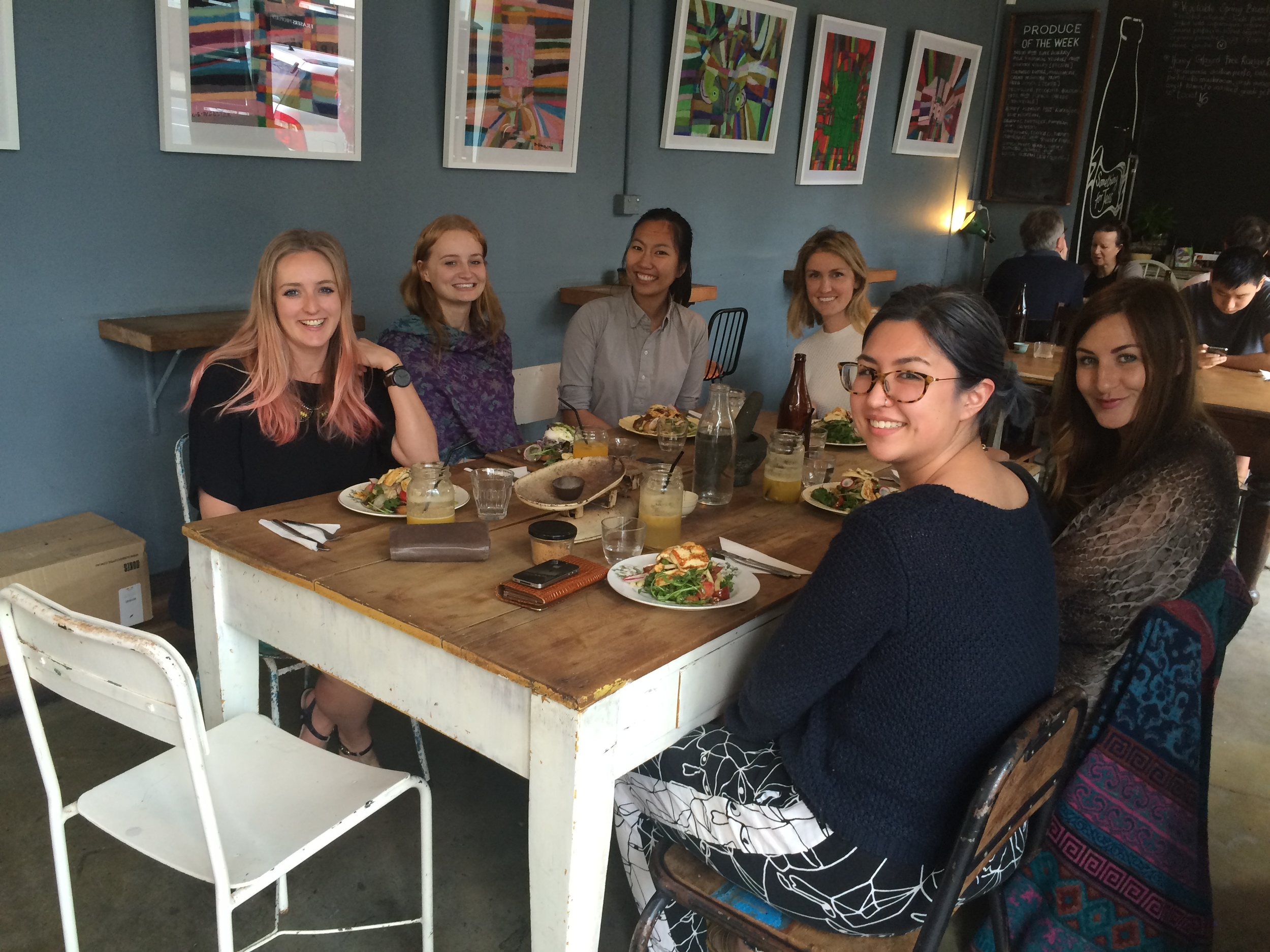 Lunch to welcome our newest graphic designer, Rachel