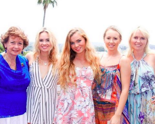 Jen with her mother, daughters and niece celebrating International Women's Day 2016