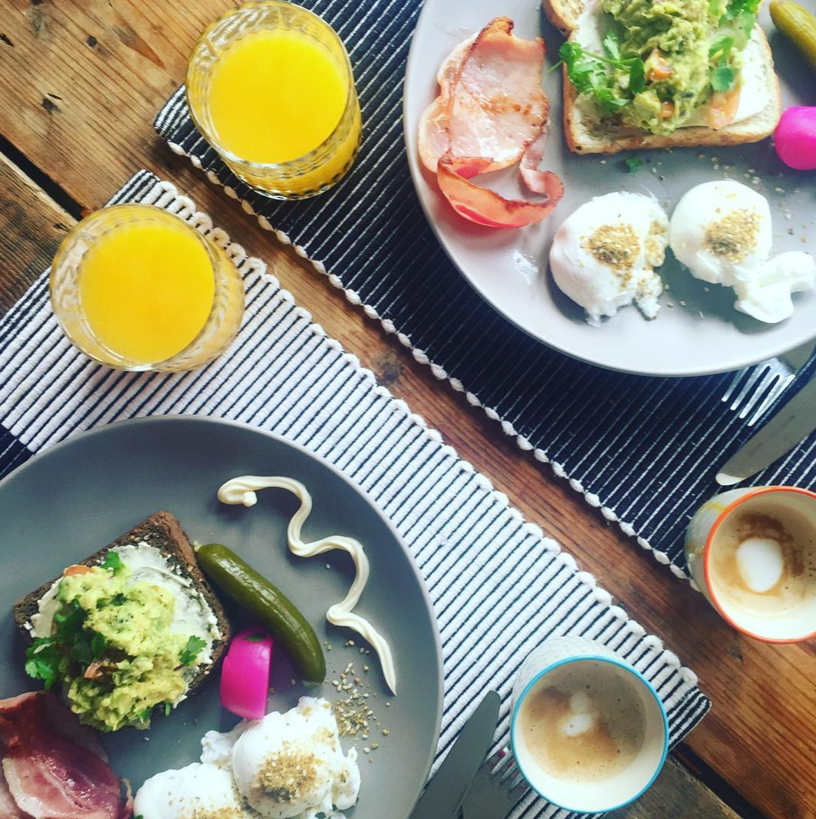 All things bright and beautiful..breakfast art!