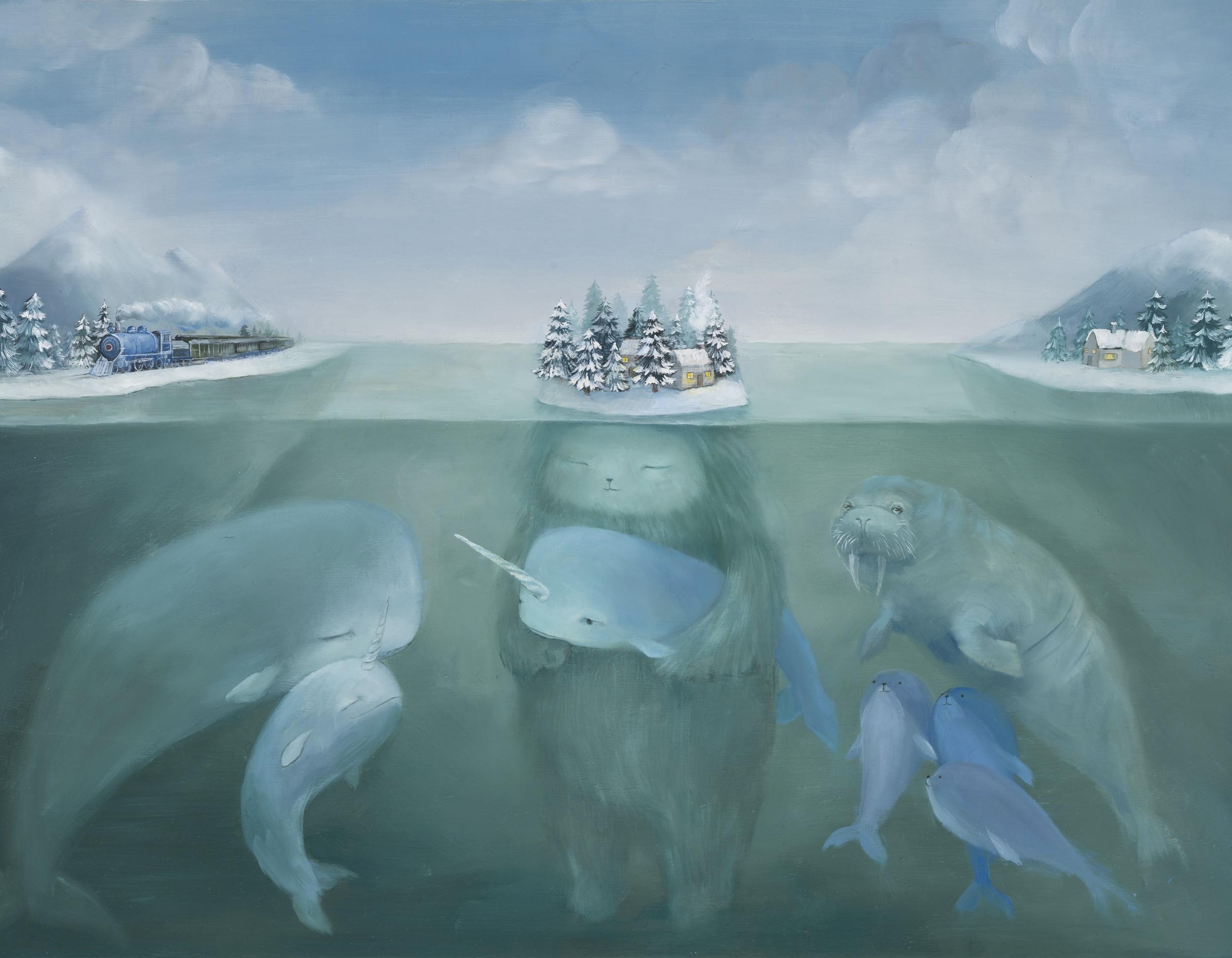 Friends in an Arctic Lagoon