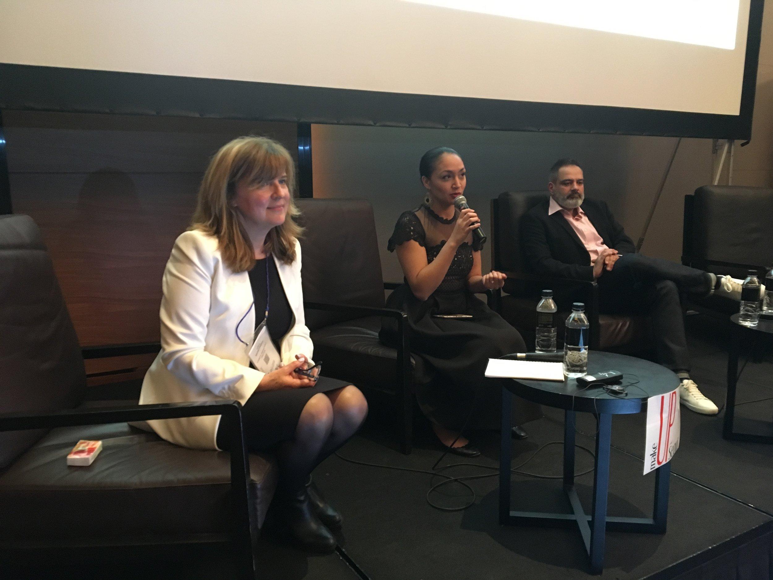 Leila Rochet-Podvin with Nicole Fox (Tribe Dynamics) and Eric Briones (Paris Luxury School).