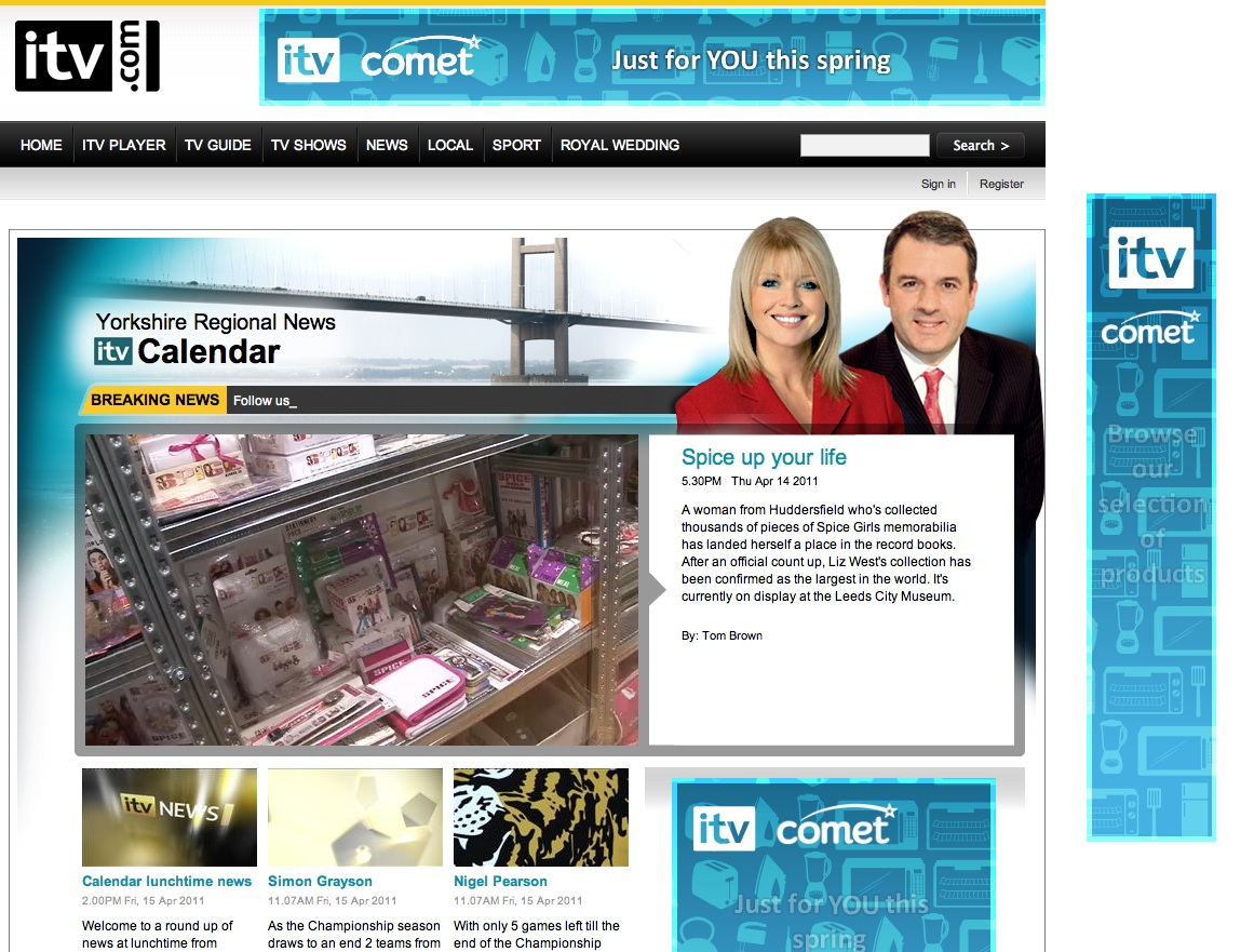 ITV News Website