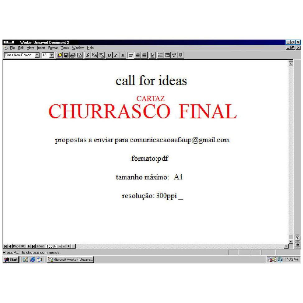 ✓ CARTAZ CHURRASCO FINAL | 2014