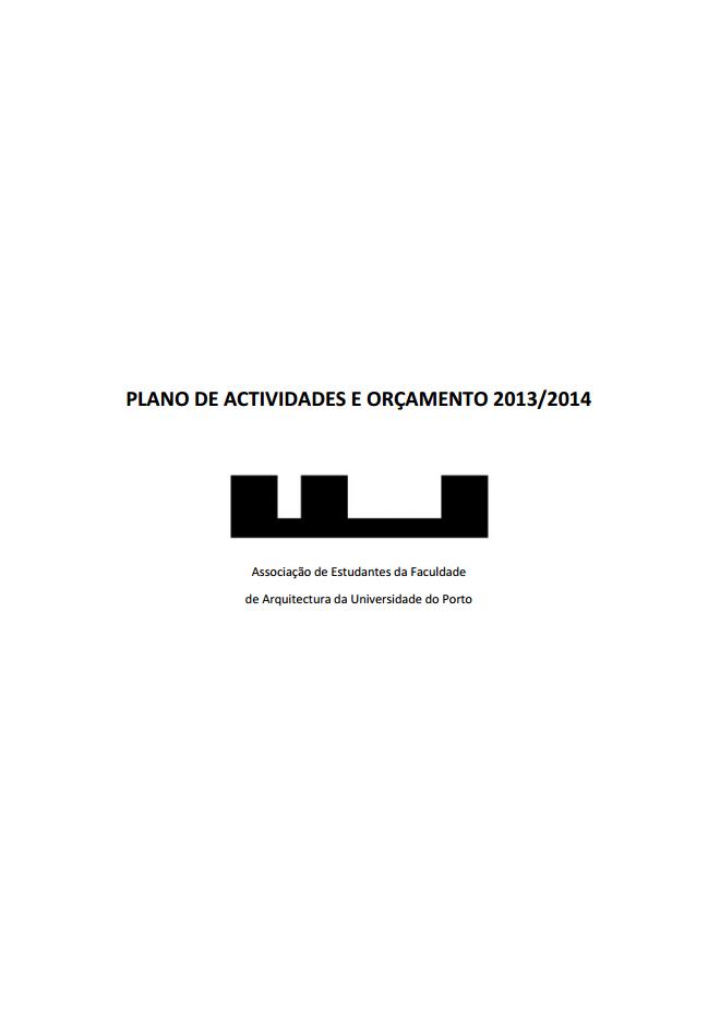 PLANO DE ACTIVIDADES E ORÇAMENTO 2013/2014