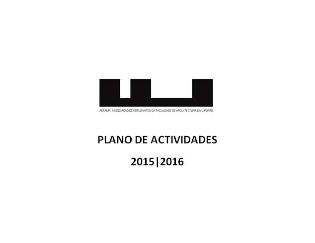 Plano de Actividades 2015 | 2016