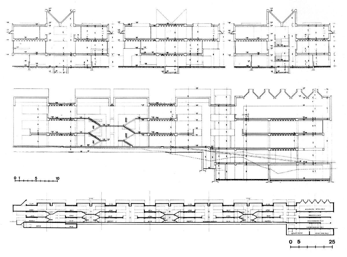 Ecole secondaire de Morbio Inferiore : Architecte : Mario Botta