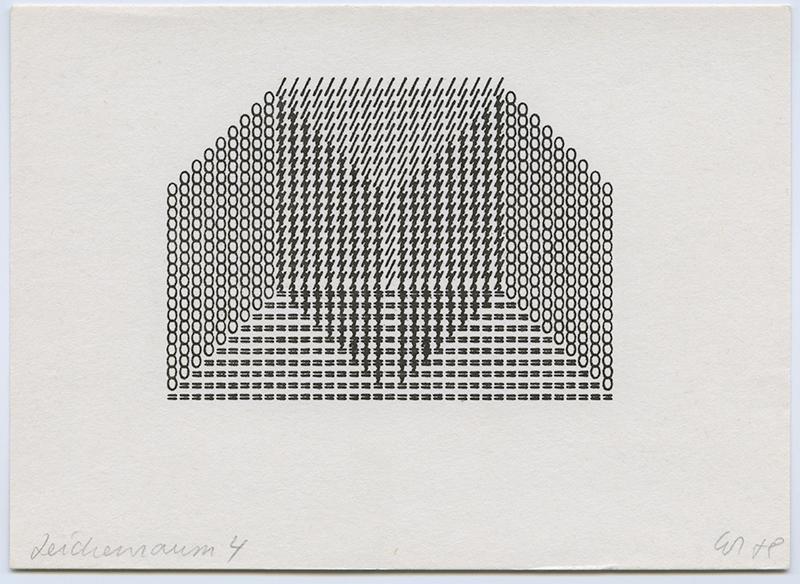 Zeichenreaum 4,  1970's