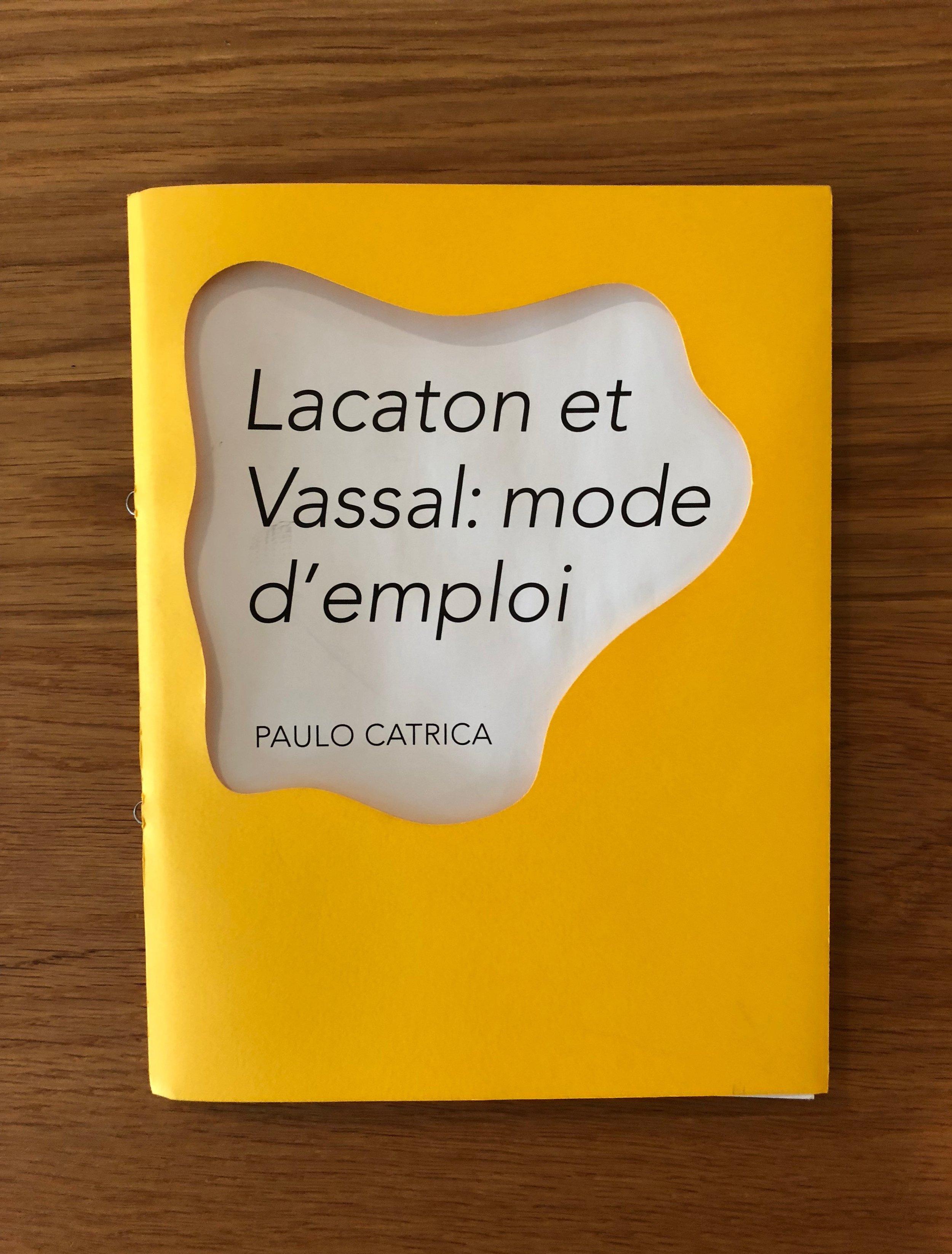 """«Quando se observam os projetos de Lacaton & Jean Philippe Vassal, verifica-se que há um conjunto de princípios que lhes é comum. Pela sua constância e sobretudo pela sua coerência, esses princípios acabaram por consubstanciar um programa ético reconhecível: a configuração de espaços visa sobretudo aquilo que eles potencialmente podem acontecer, em detrimento de qualquer efeito """"plástico"""".» José Capela  Lacaton & Vassal: mode d'emploi, de Paulo Catrica.  Arquitectura pela Arquitectura, texto de José Capela.  Paulo Catrica (1965), é fotógrafo, estudou no Ar.Co (1985), concluiu o mestrado em Imagem e Comunicação no Goldsmith's College (1997) e o doutoramento em Estudos de Fotografia na University of Westminster (2011). Portuguese/ French edition. 64 pages., 230 x 160 mm. ISBN 978-989-99010-4-9 500 exemplares impressos na gráfica Maiadouro em Creator Silk 135 gr. e composto em caracteres Whitman e Avenir."""