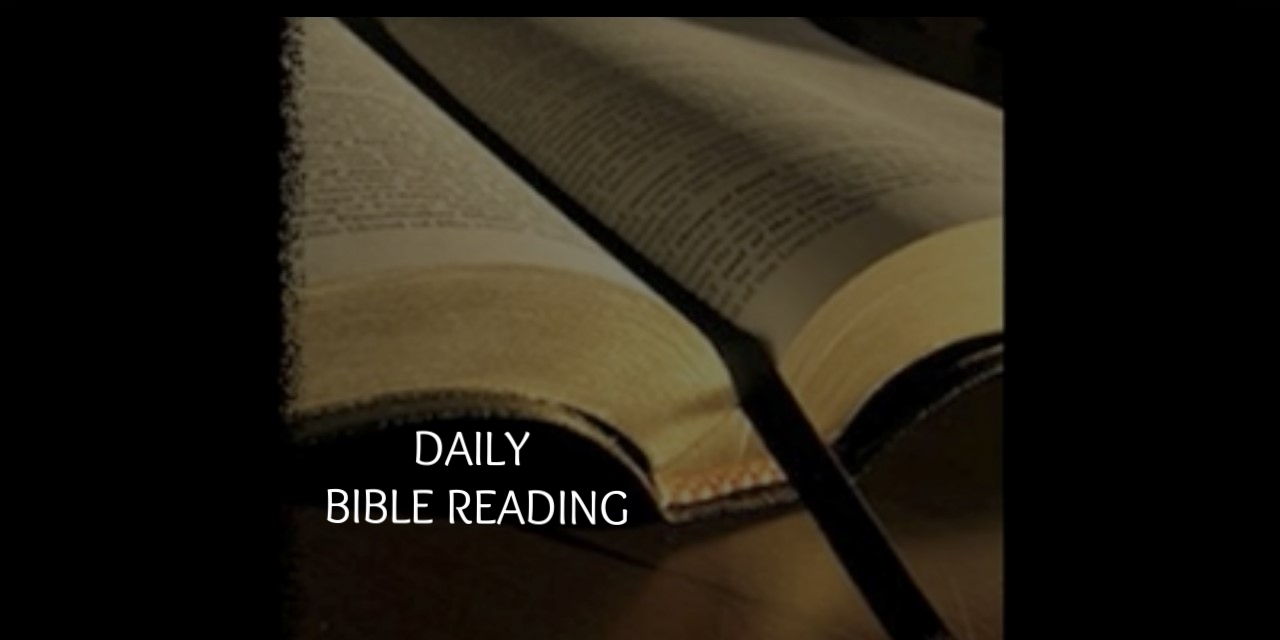 Click to listen to the Daily Audio Bible Reading in English