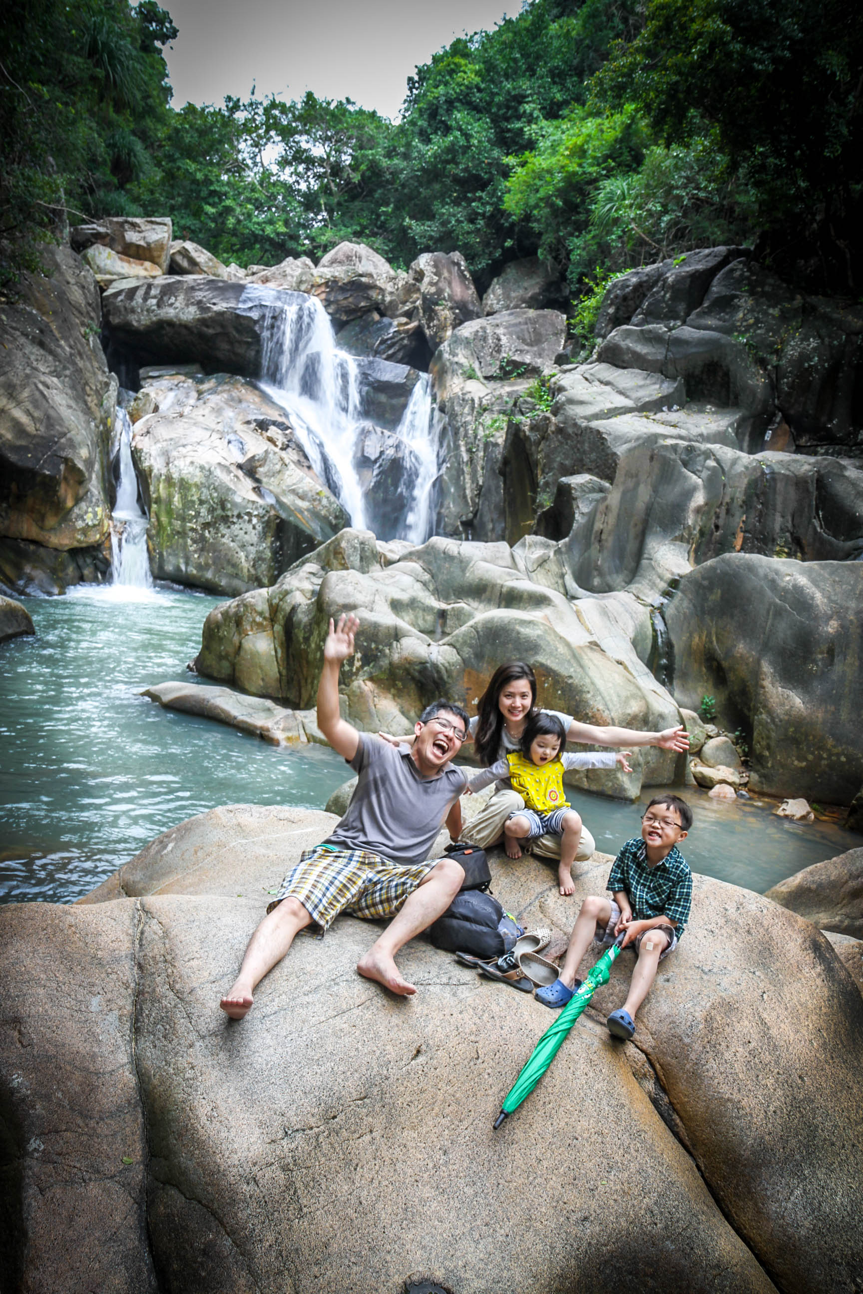 One of the three waterfalls at Ba Ho Falls in Nha Trang