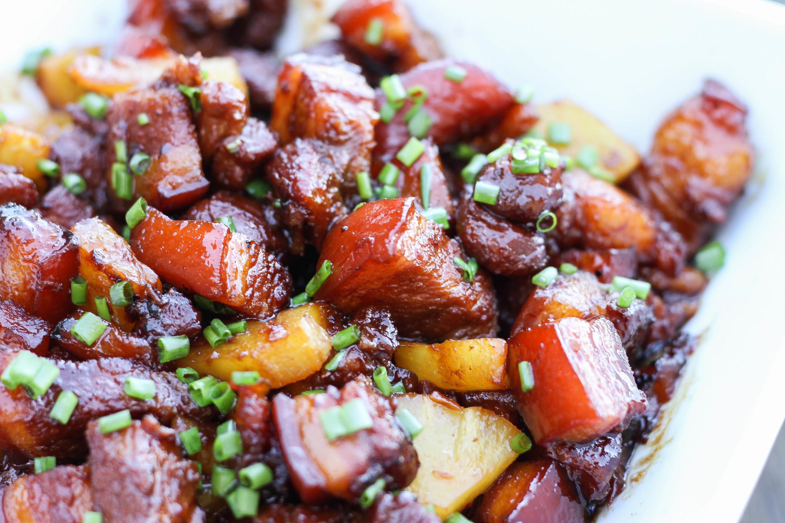 Vietnamese Braised Pork and Pineapple Thit Kho Thom