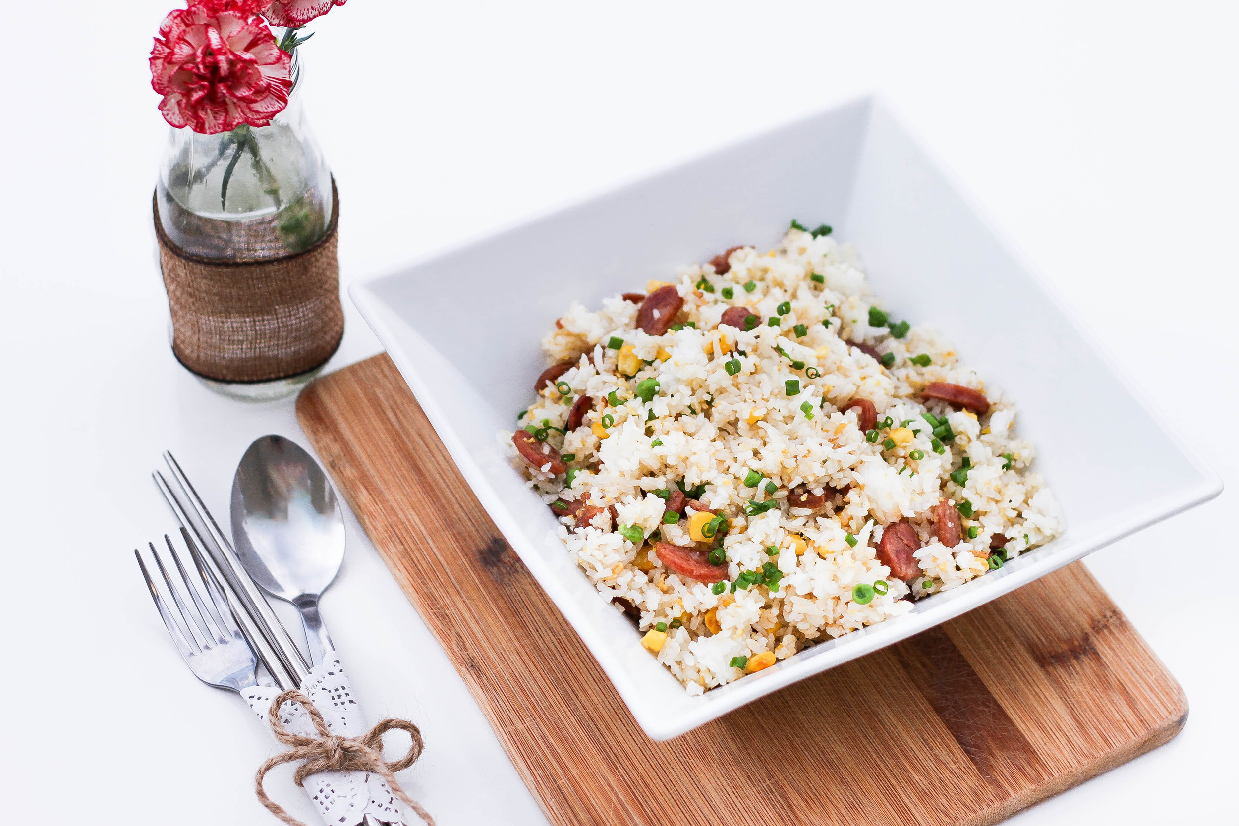 Fluffy Asian-style fried rice