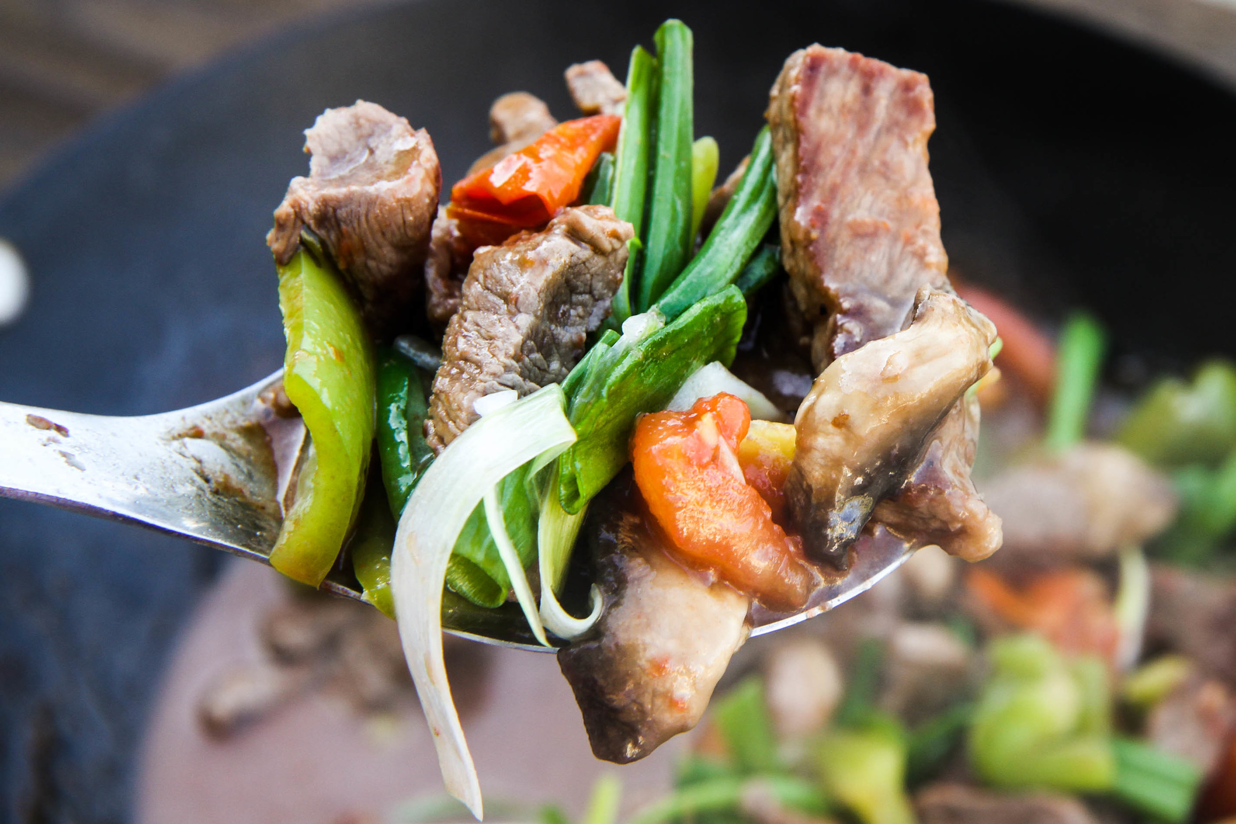 Vietnamese Beef & Tomato Stir Fry. Perfect with a warm bowl of steamed white rice.