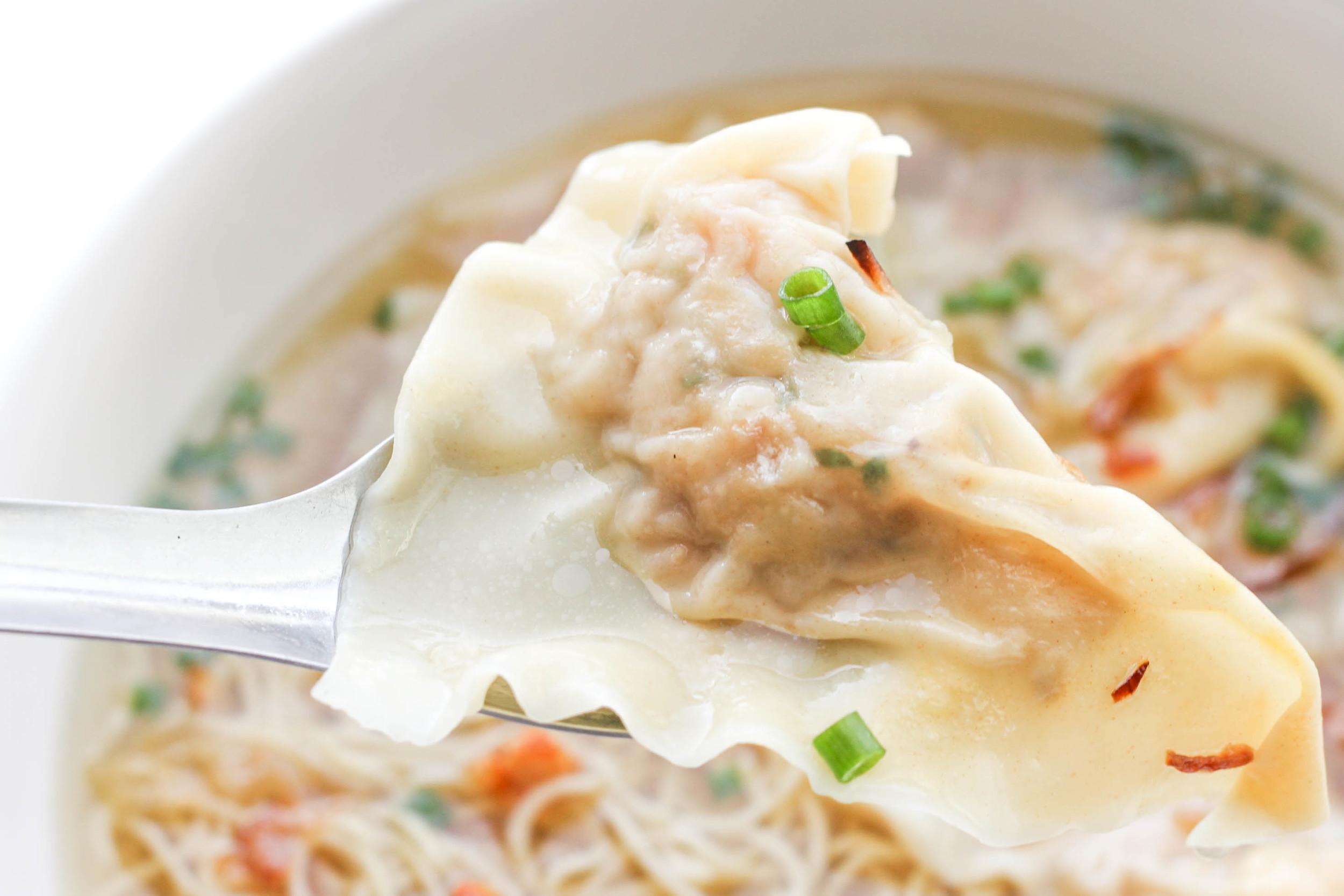 Shrimp & Pork Wonton Recipe (Hoành Thánh Tôm Thịt)