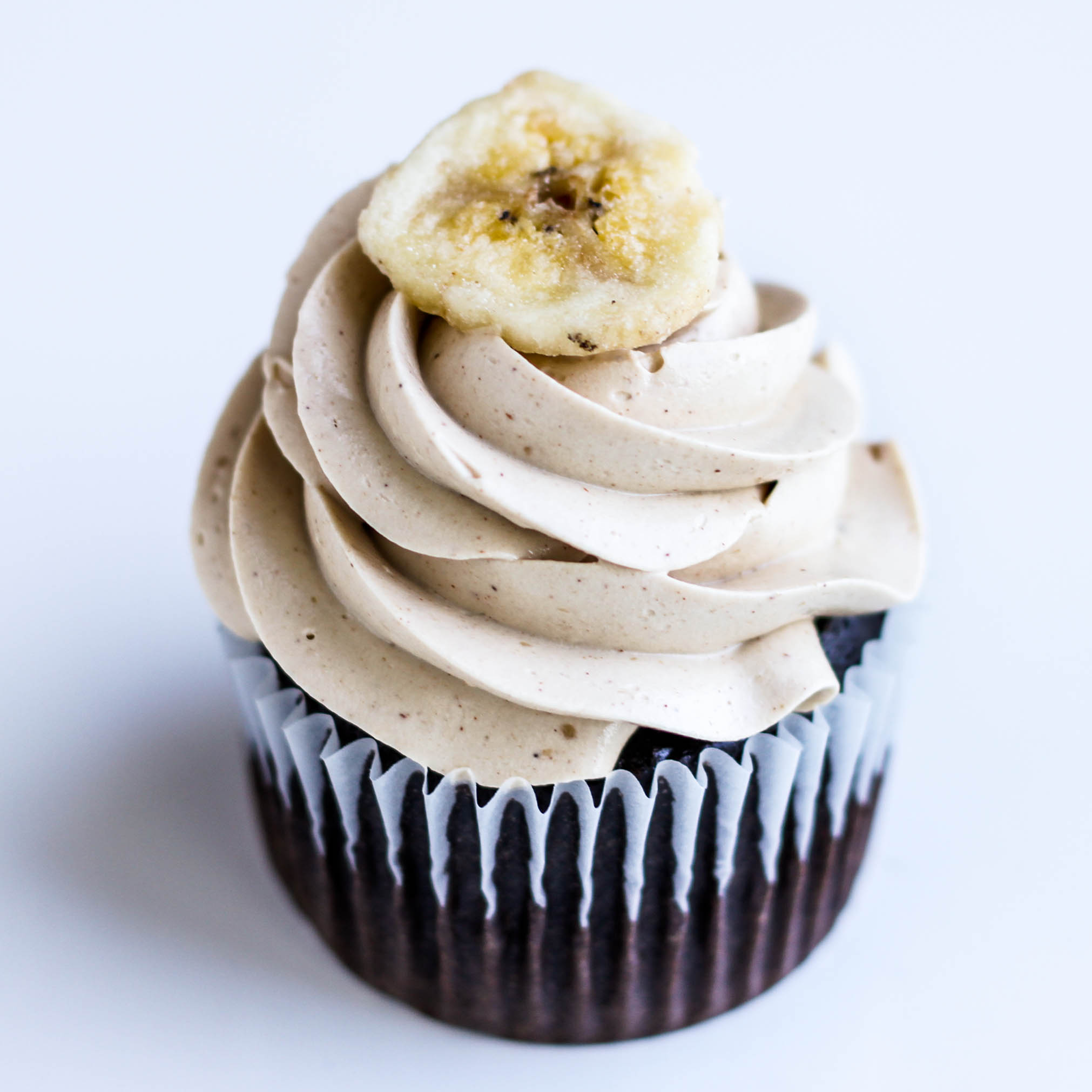 Chocolate Cupcake with Brown Sugar Meringue Frosting