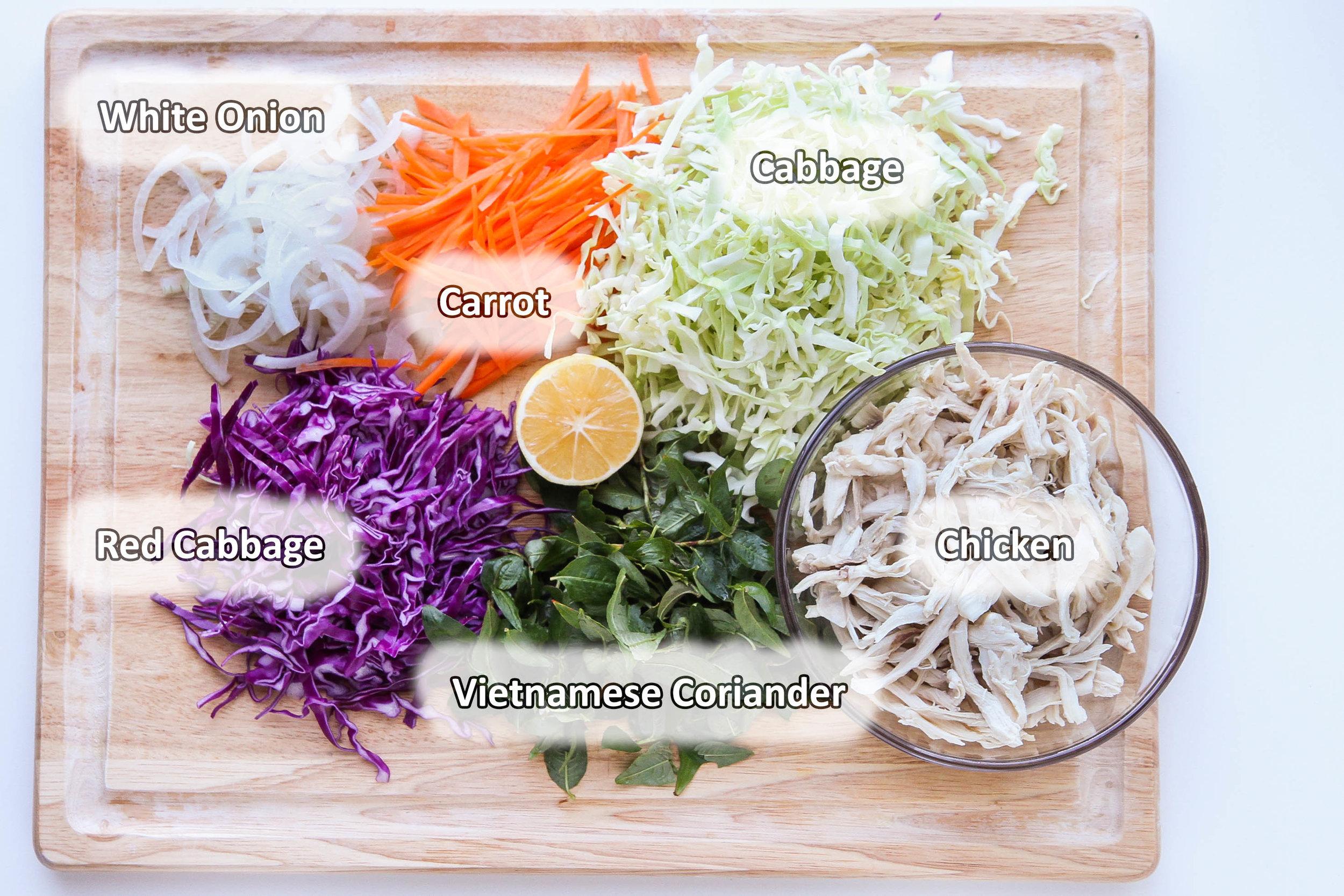 Vietnamese Chicken Salad Ingredients