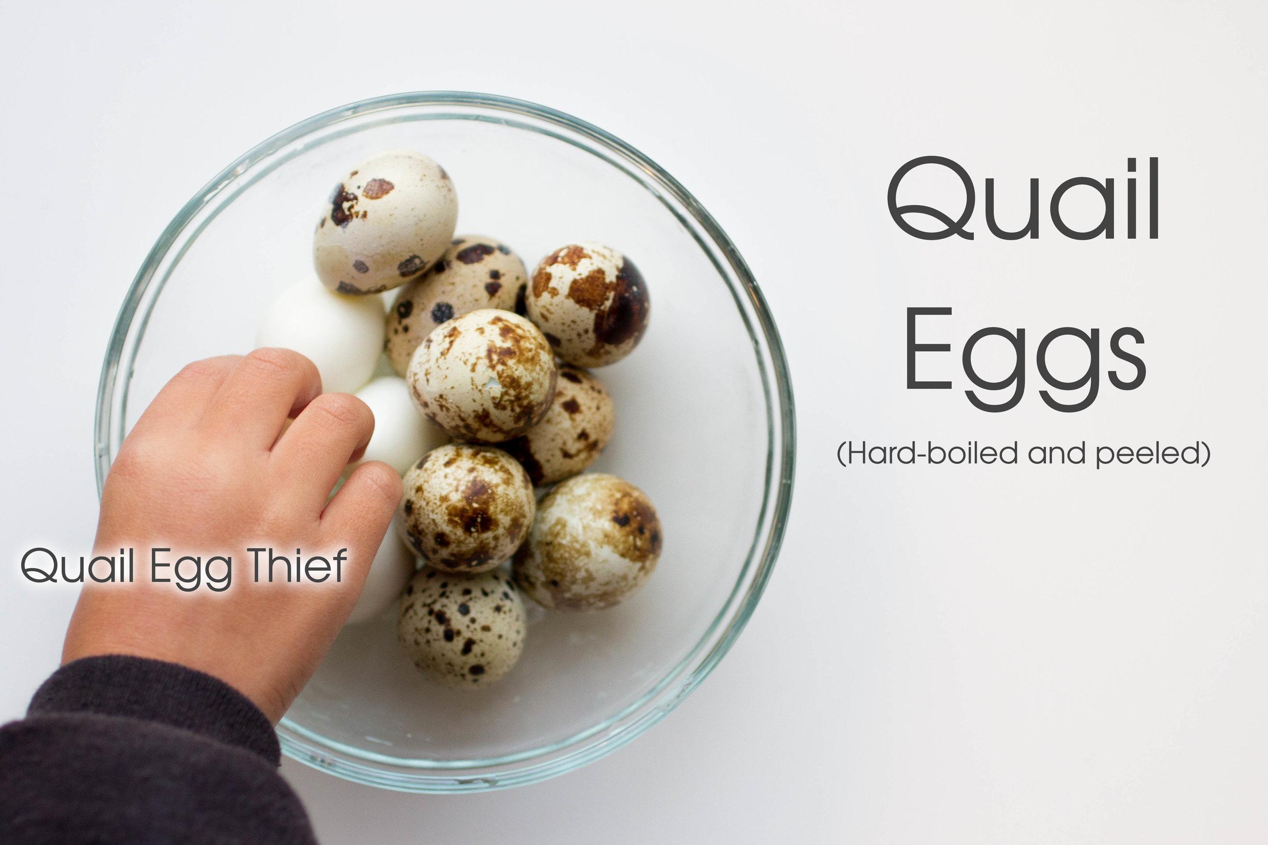 Quail Eggs are also a must in  Hu Tieu.  The kids looooooooooove them.